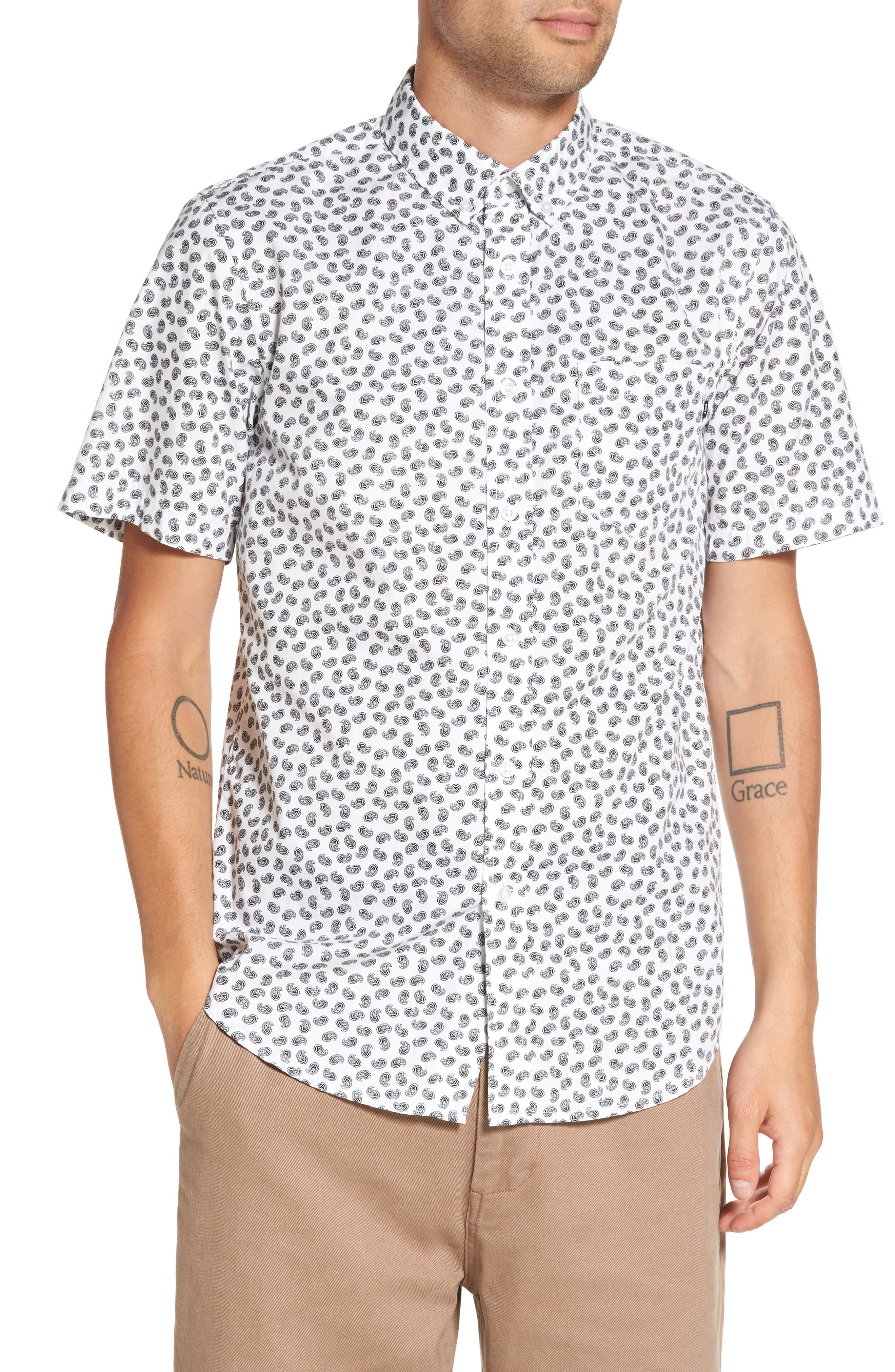 Obey Monty Paisley Woven Shirt