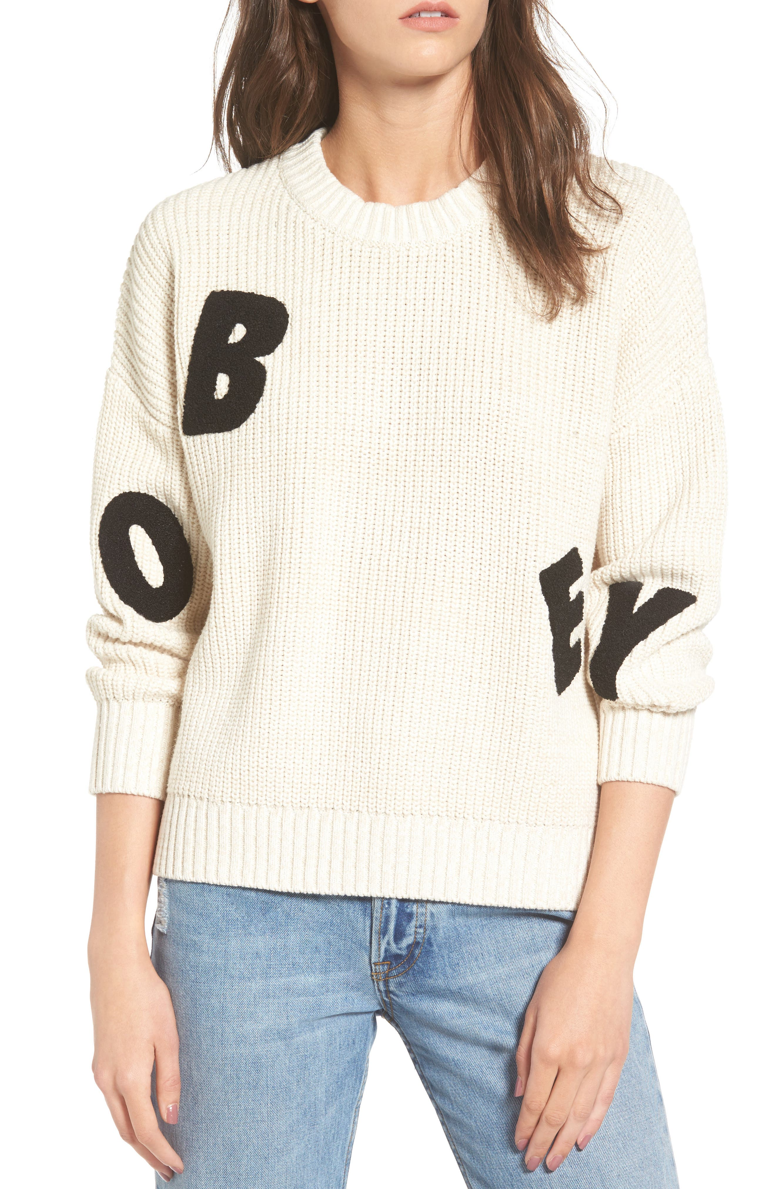 Obey Jumbled Knit Sweater
