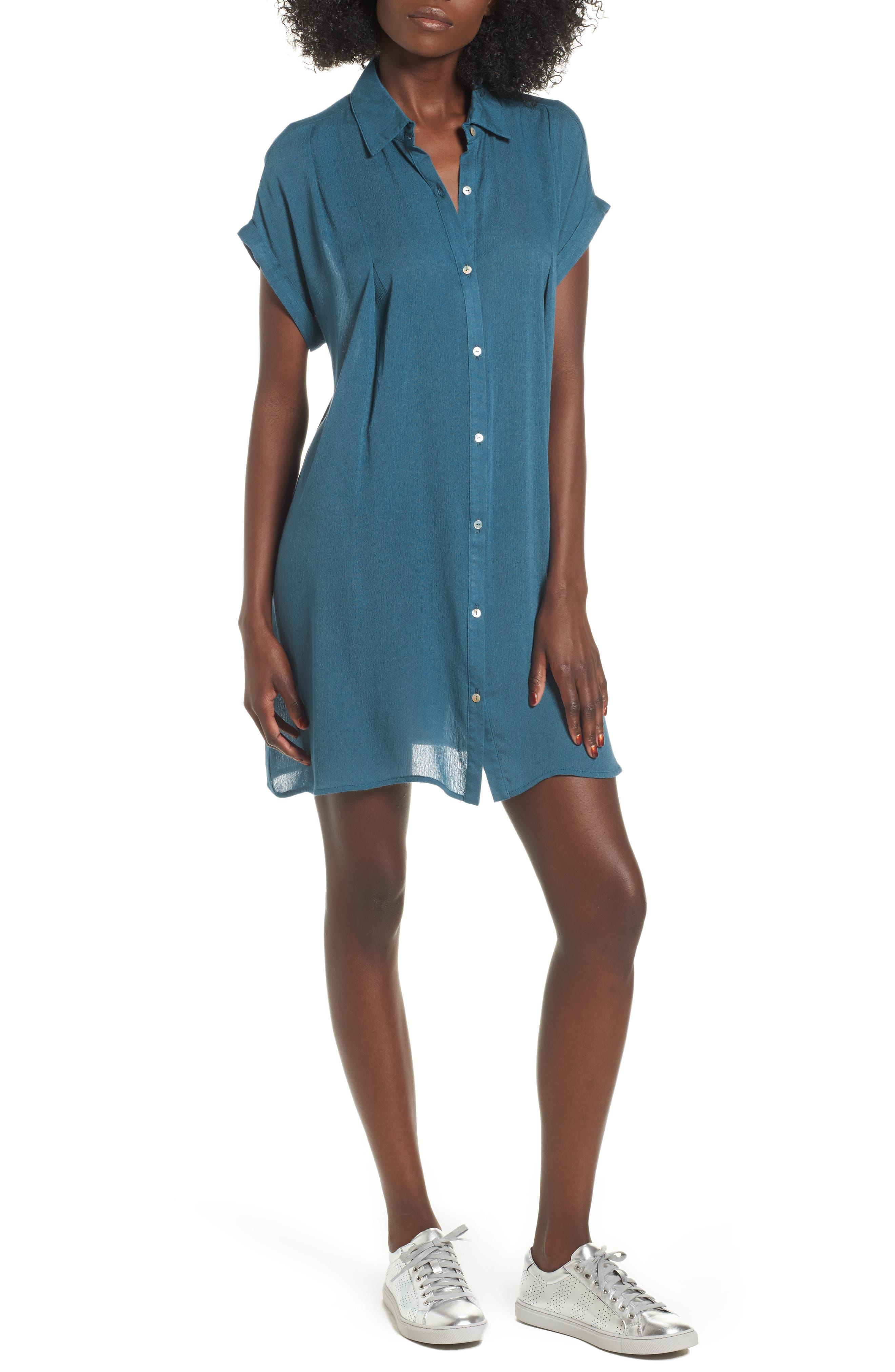 Alternate Image 1 Selected - Dee Elly Gauze Shirtdress