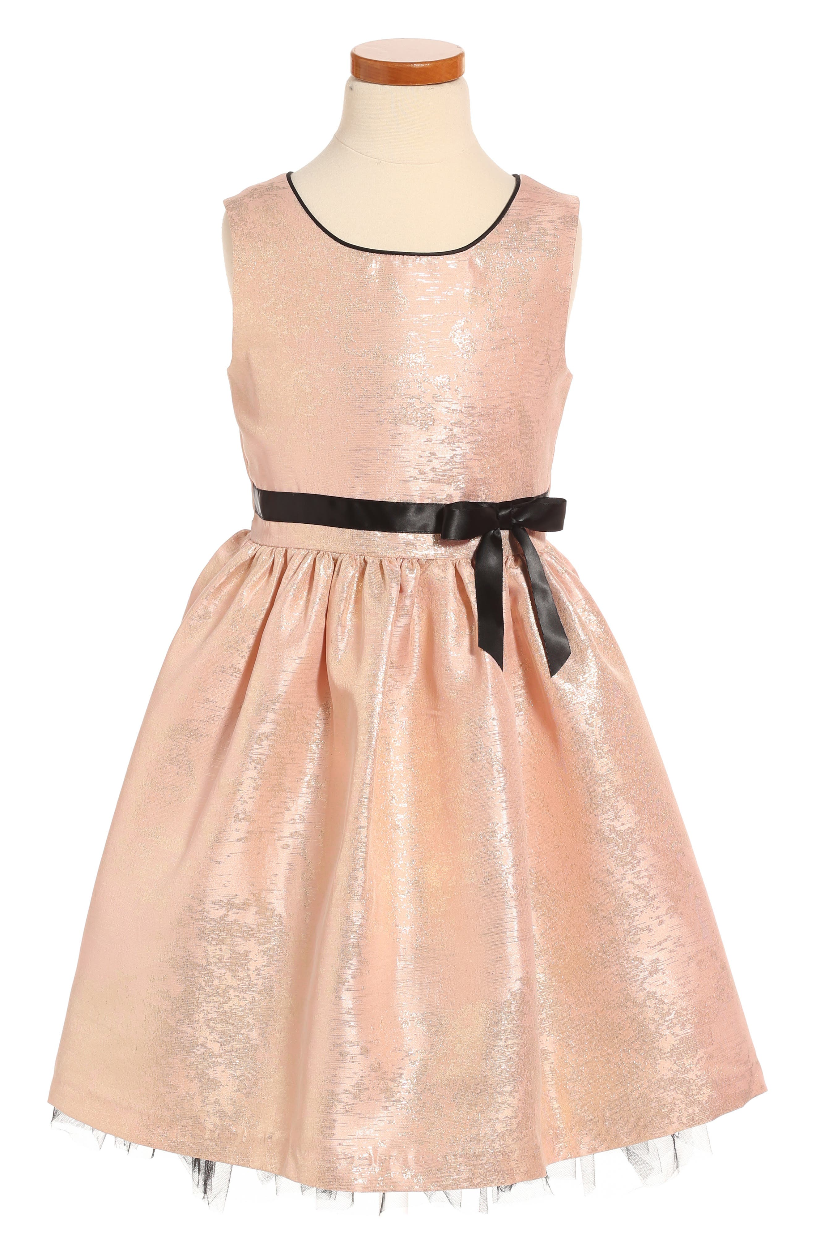 Frais Metallic Shimmer Sleeveless Dress (Toddler Girls, Little Girls & Big Girls)