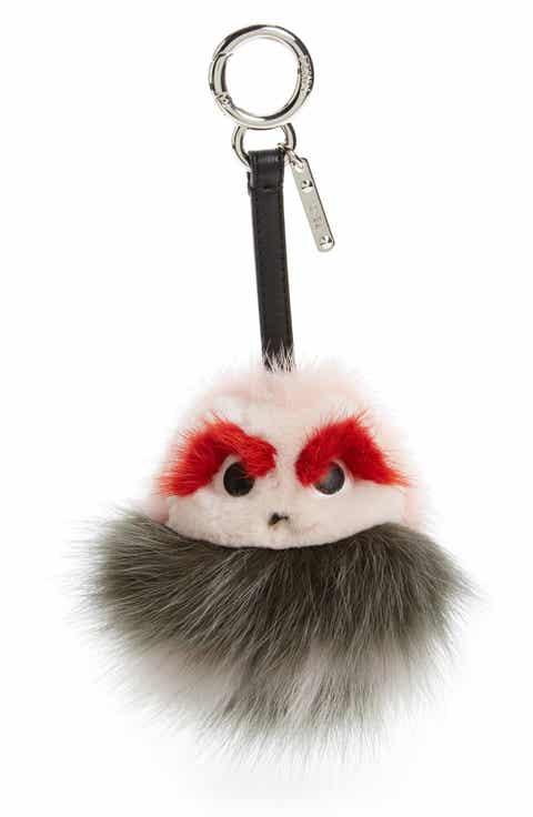 Fendi Bugs Genuine Mink Fur   Genuine Fox Fur Bag Charm