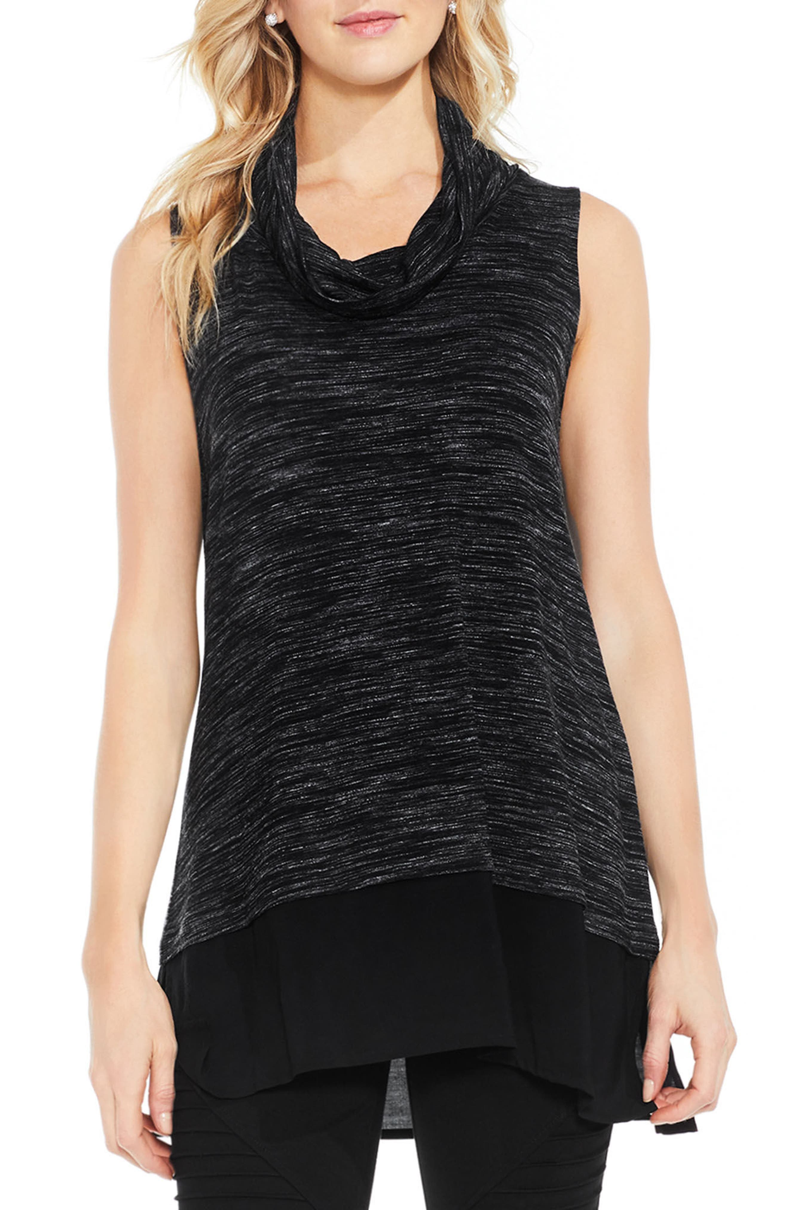 Two by Vince Camuto Woven Hem Tunic
