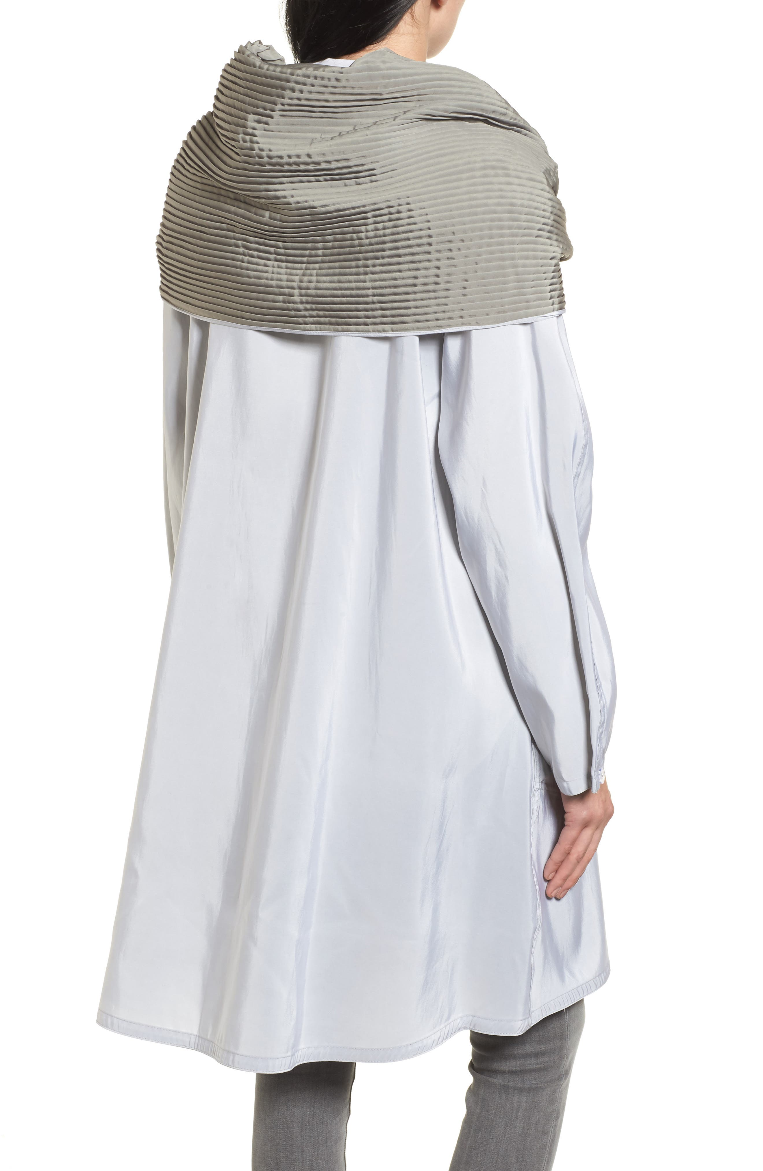 Alternate Image 2  - Mycra Pac Designer Wear Reversible Pleat Hood Packable Travel Coat