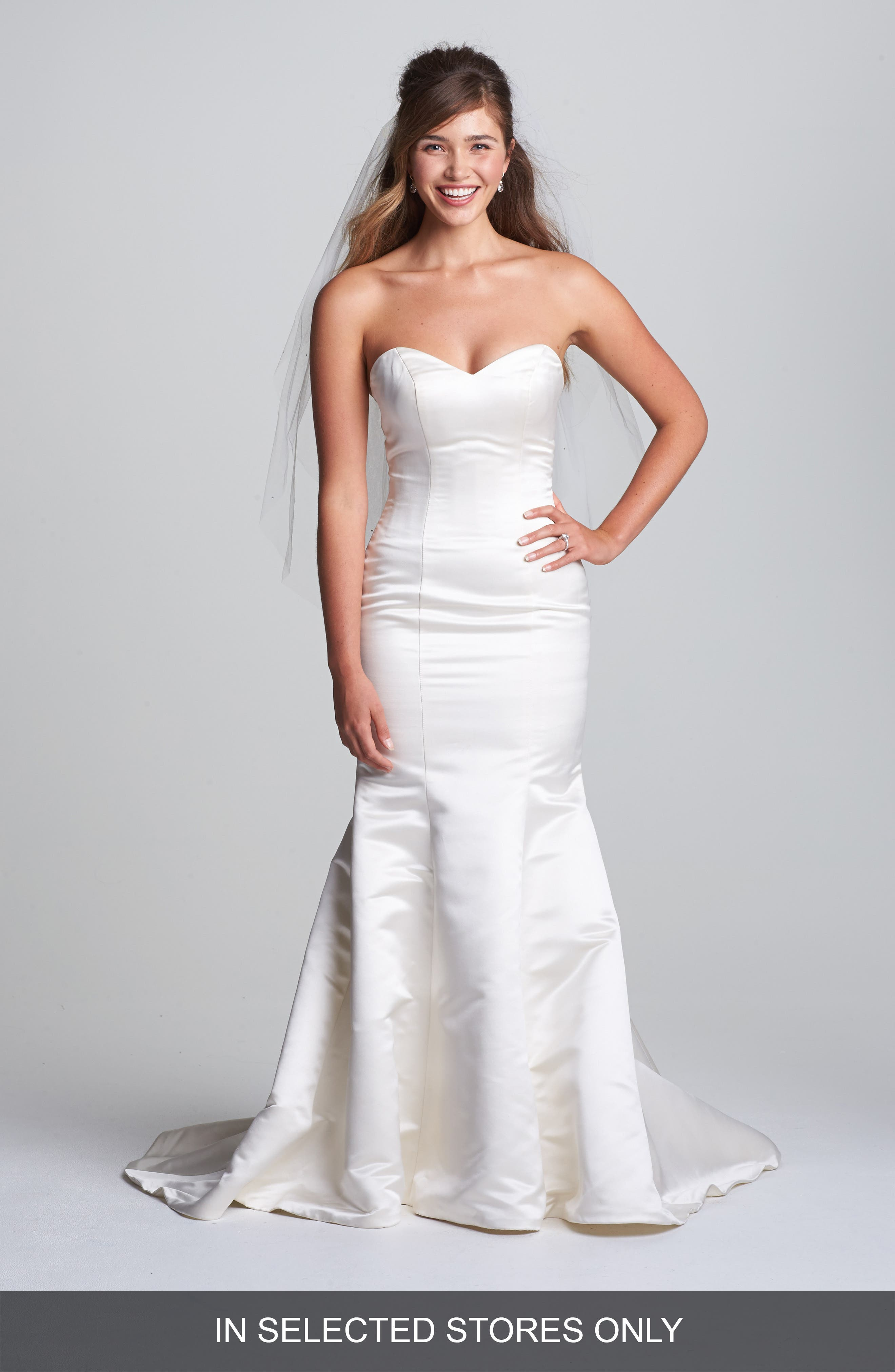 Olia Zavozina 'Allie' Duchess Silk Trumpet Dress (In Stores Only)