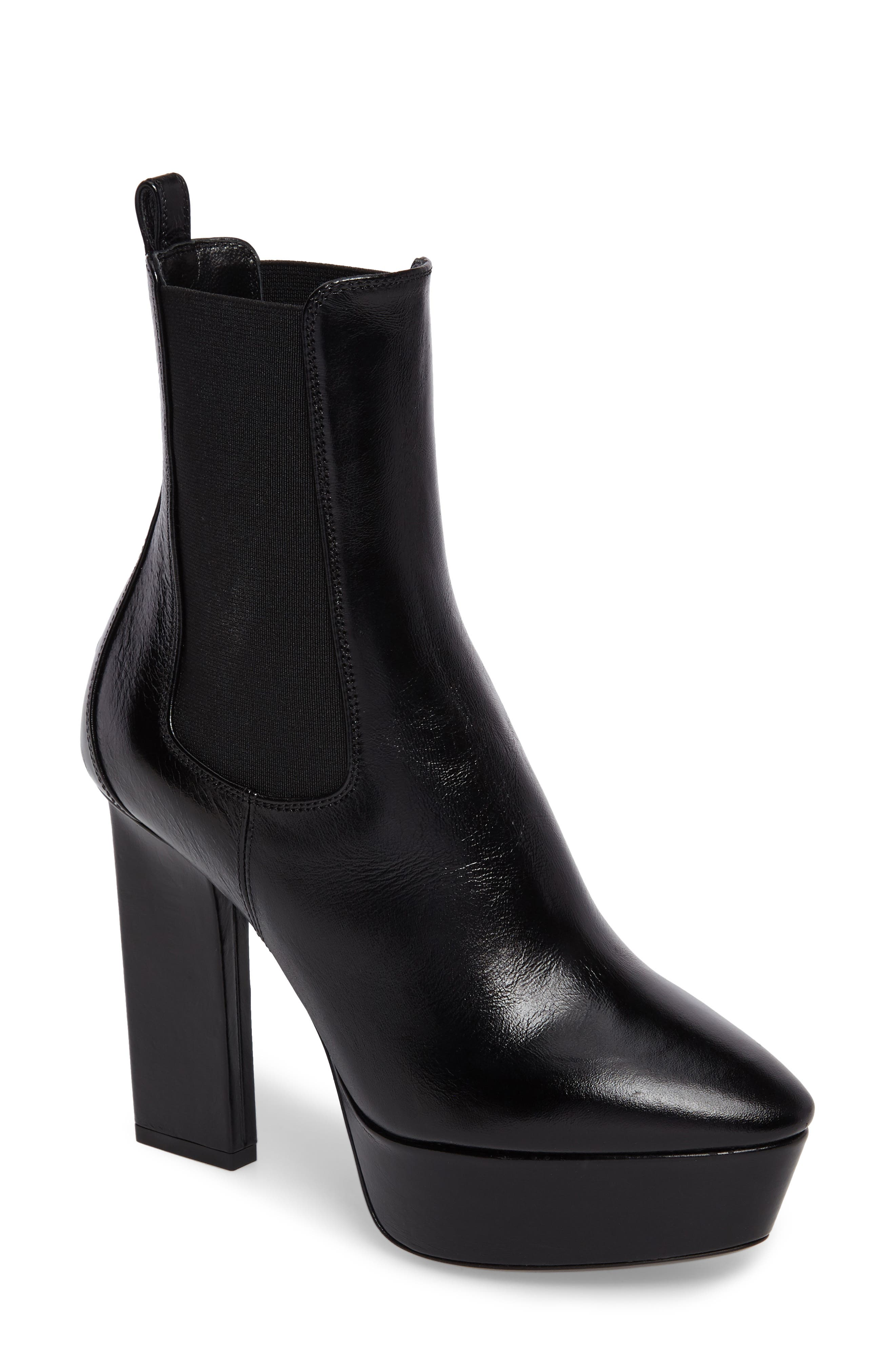 Saint Laurent Vika Platform Bootie (Women)