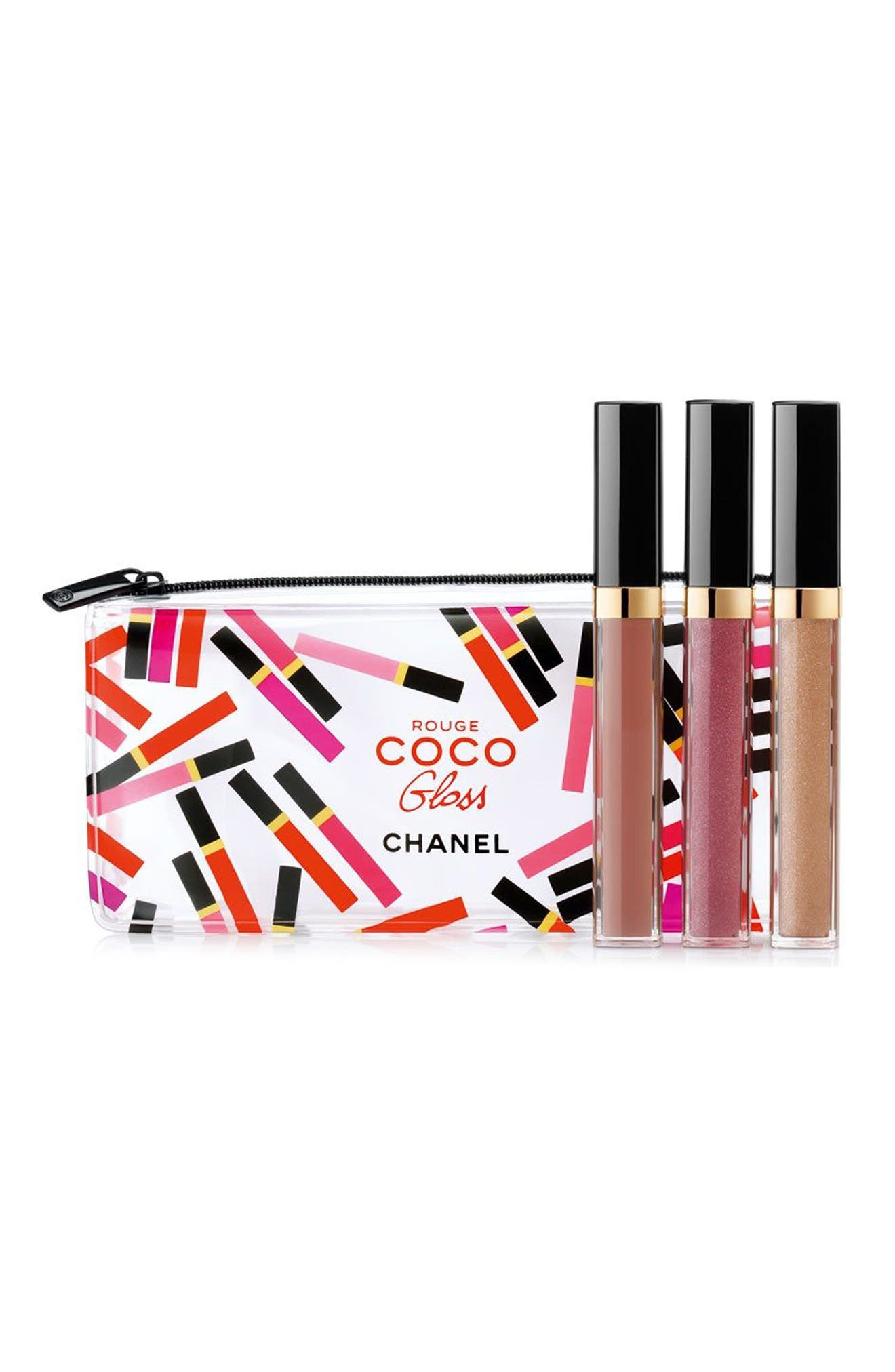 CHANEL NUDE MOOD ROUGE COCO GLOSS Moisturizing Glossimer Trio