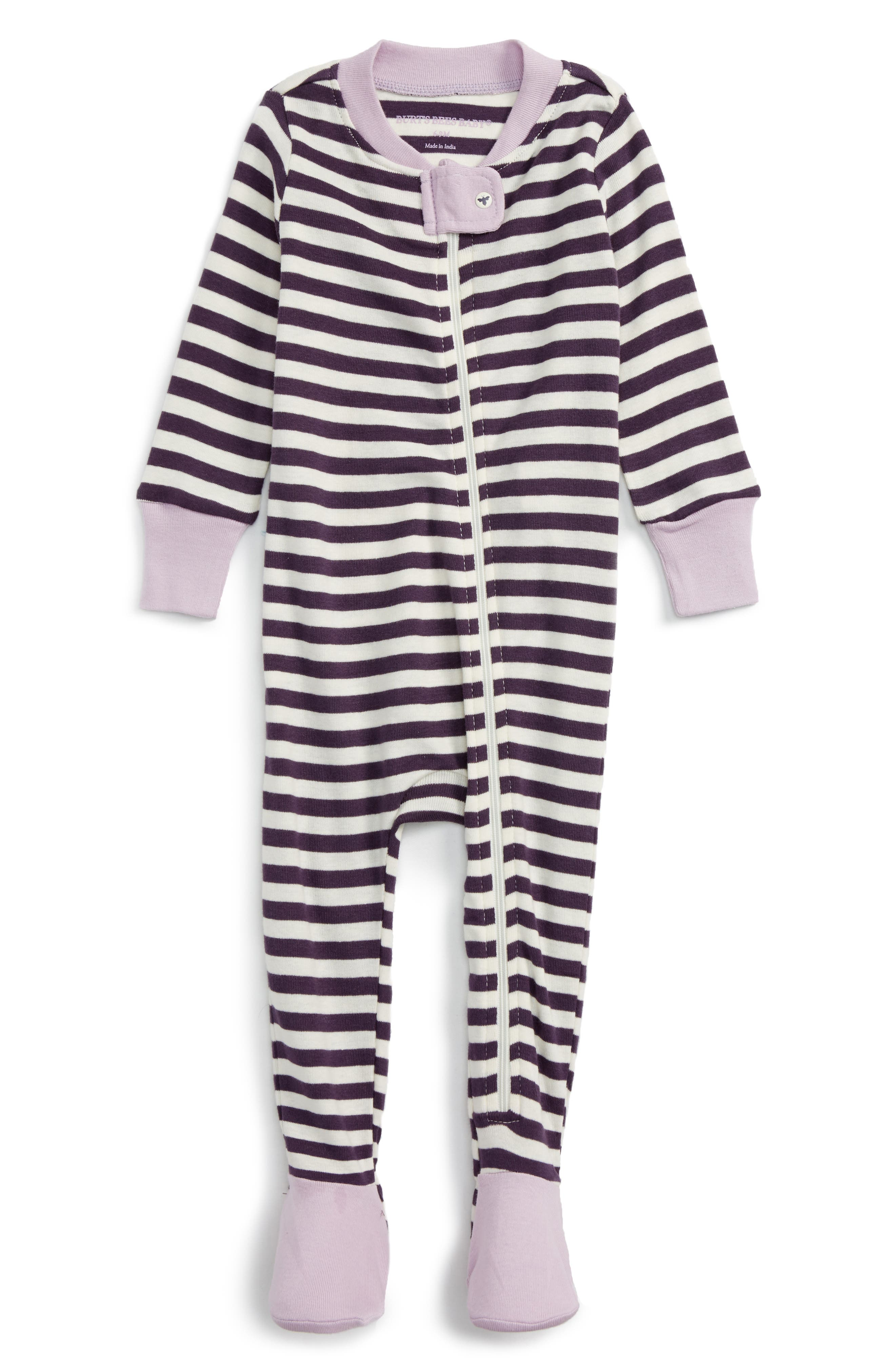 Burt's Bees Baby Organic Cotton Fitted One-Piece Pajamas (Baby Girls)