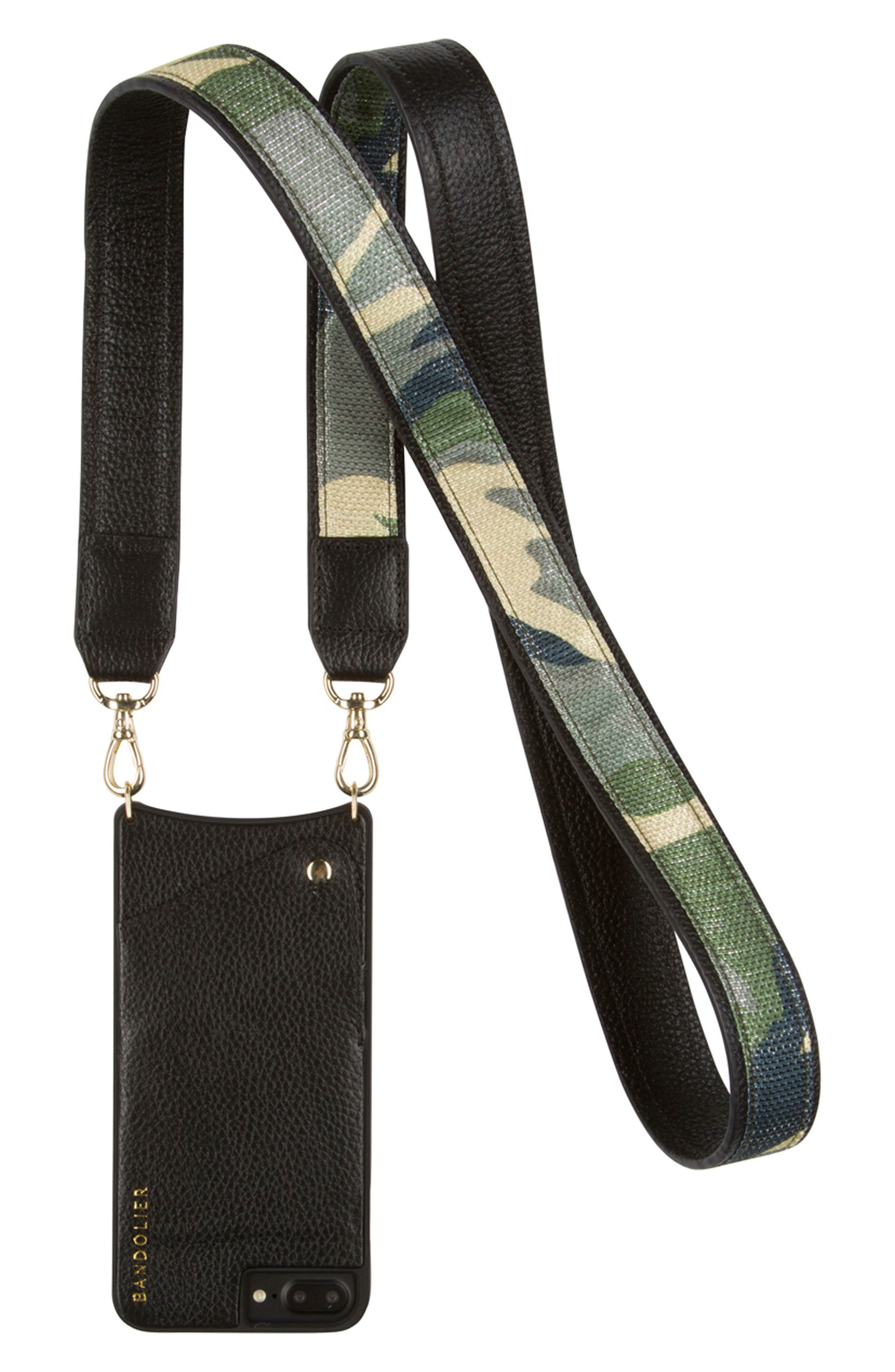 Bandolier Angela Camo iPhone 6/7 & 6/7 Plus Crossbody Case