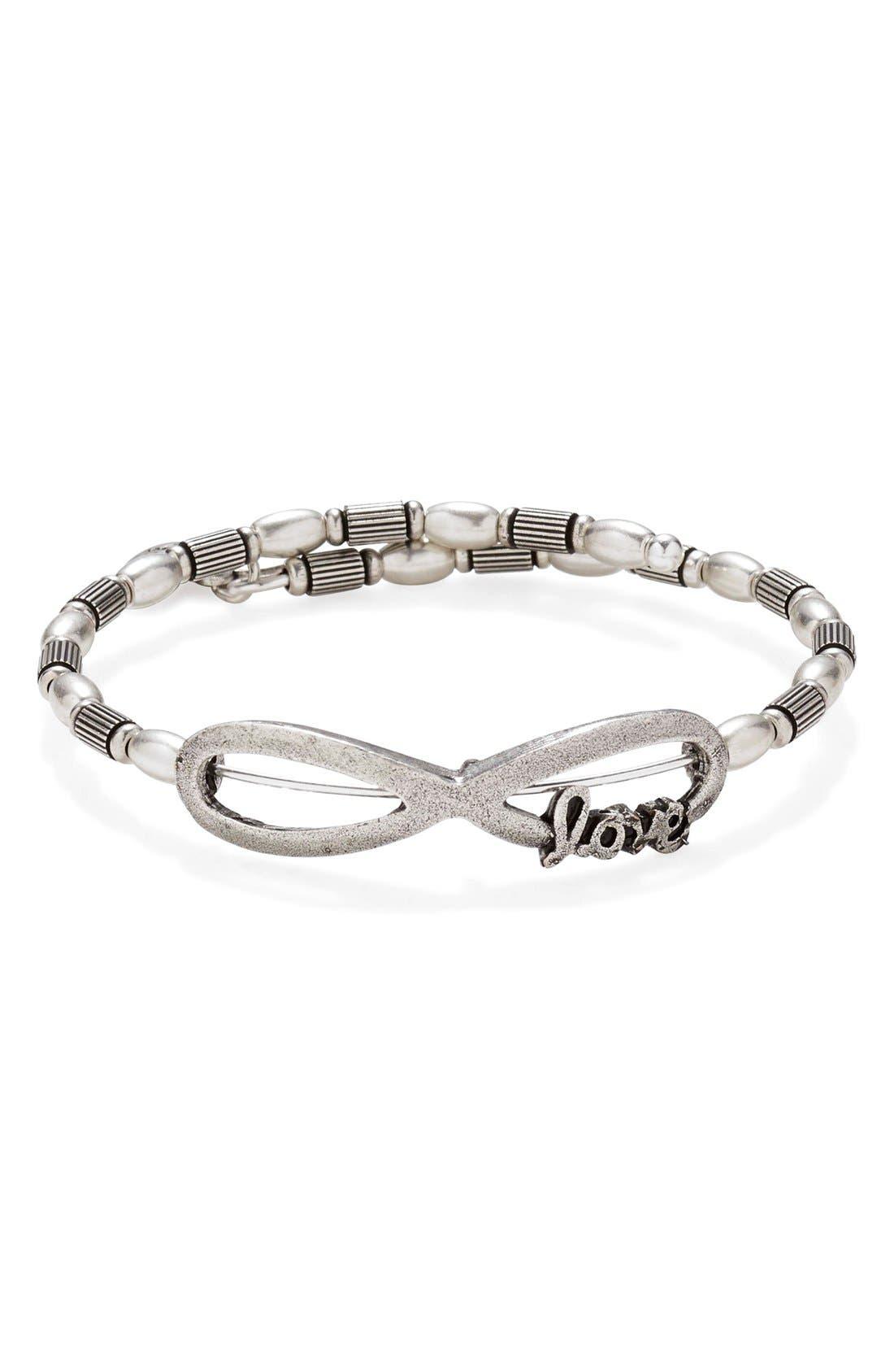Alternate Image 1 Selected - Alex and Ani 'Infinite Love' Wrap Bracelet