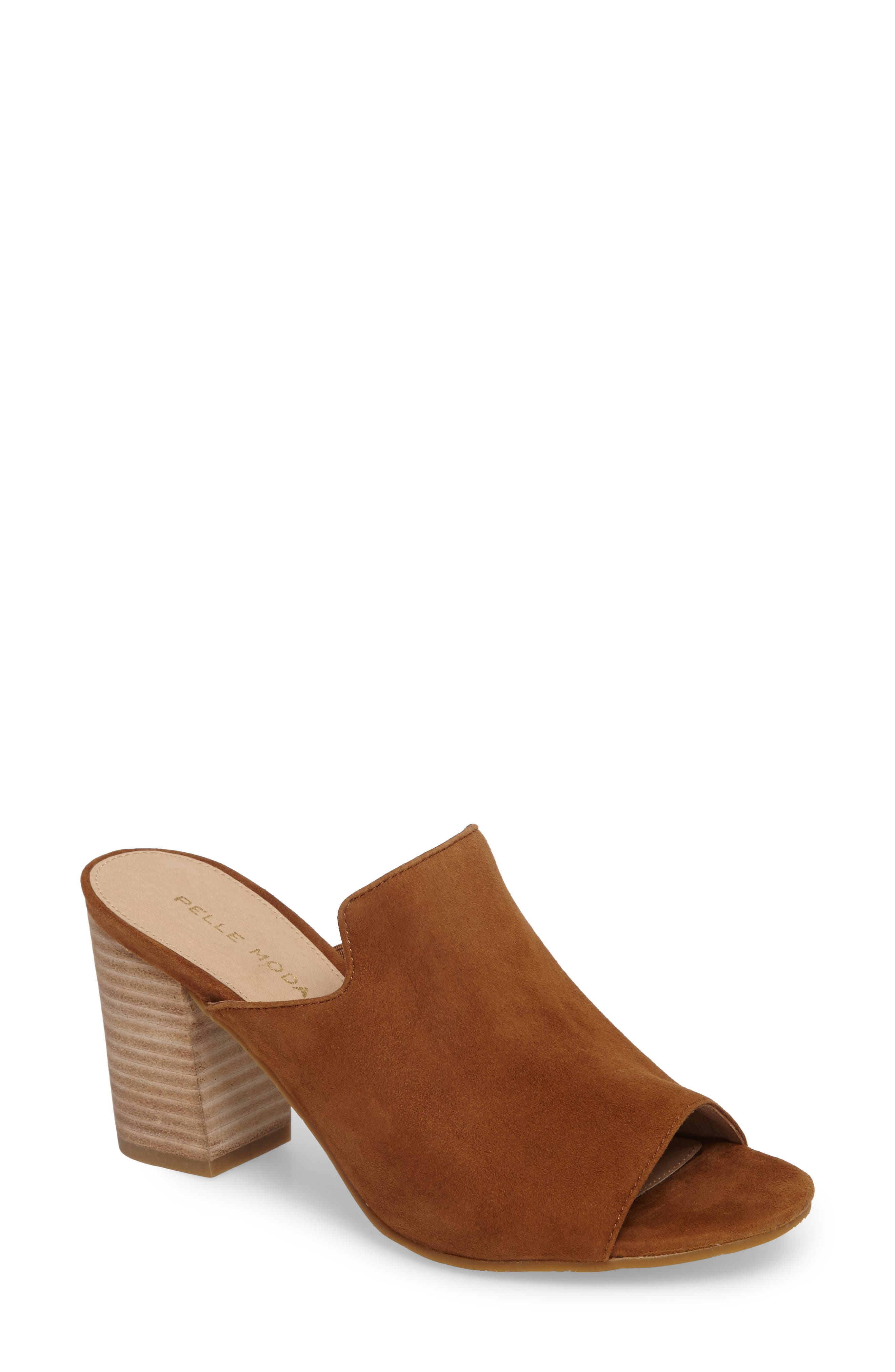 Pelle Moda Blair Peep Toe Mule (Women)