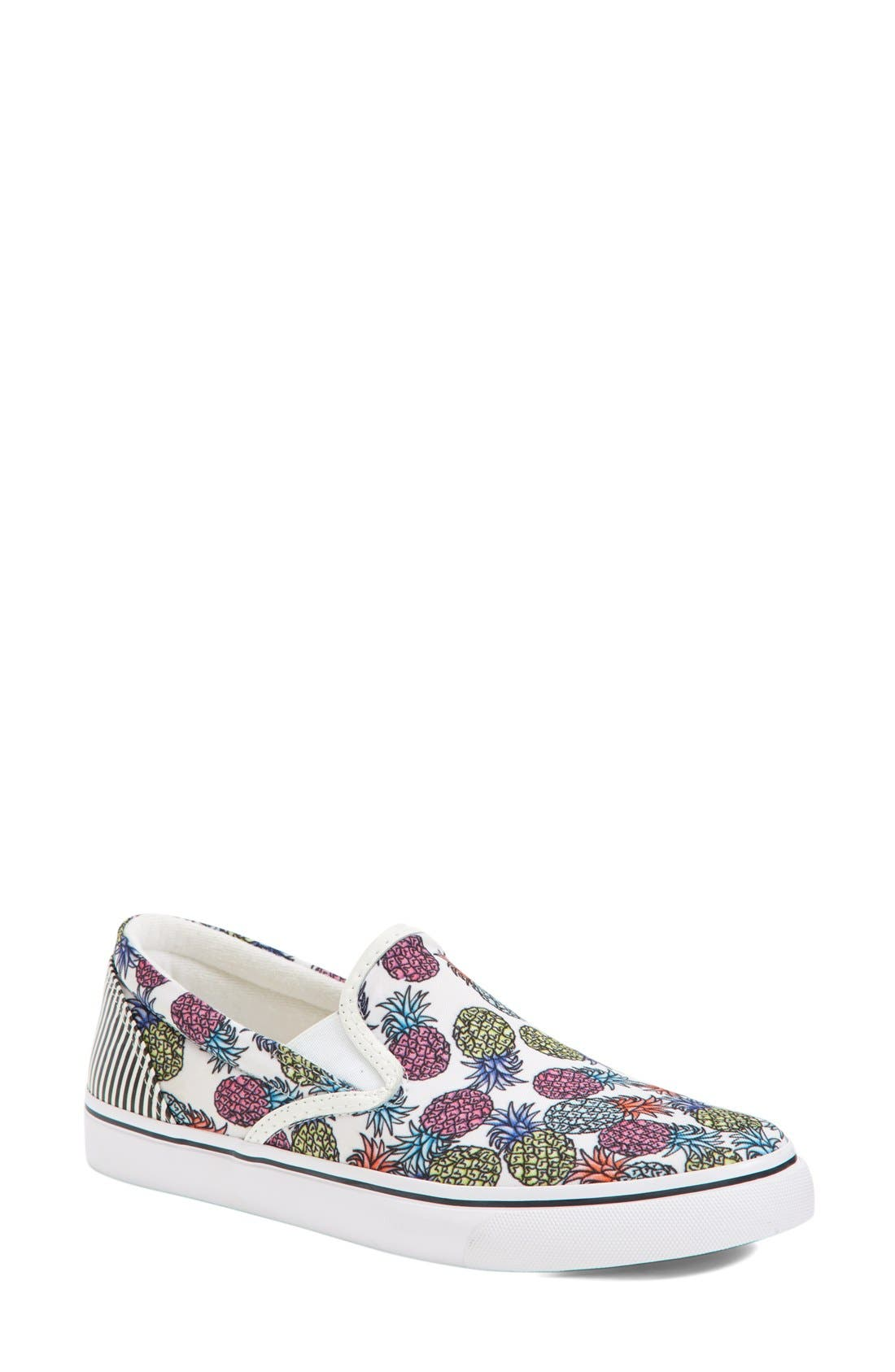 Alternate Image 1 Selected - Sophia Webster 'Adele - Pineapple' Satin Slip-On Sneaker (Women)