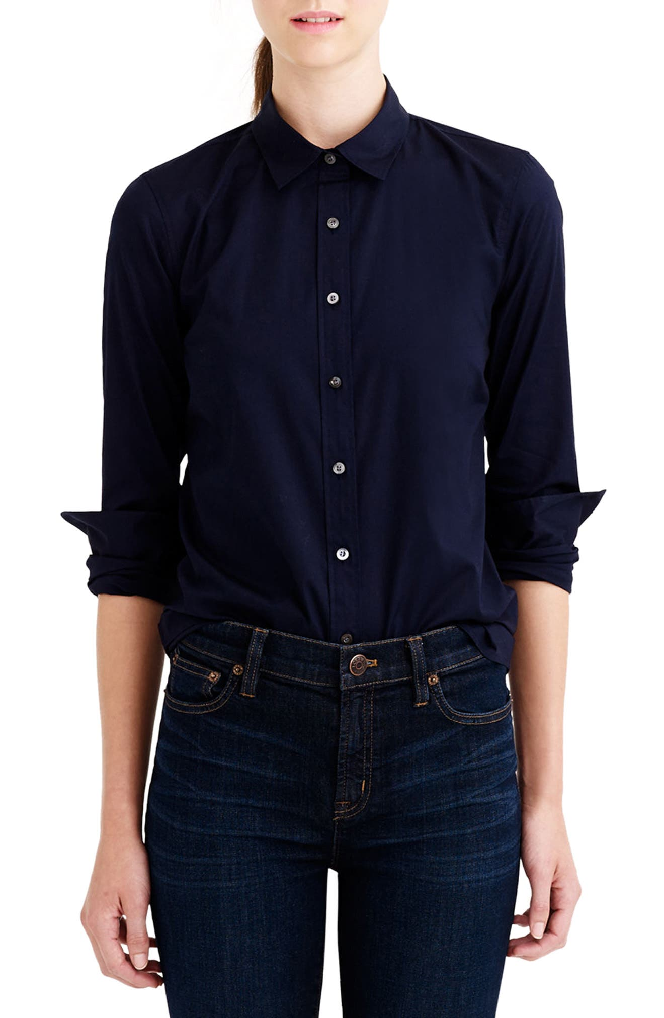 J.Crew Stretch Perfect Shirt (Regular & Petite)