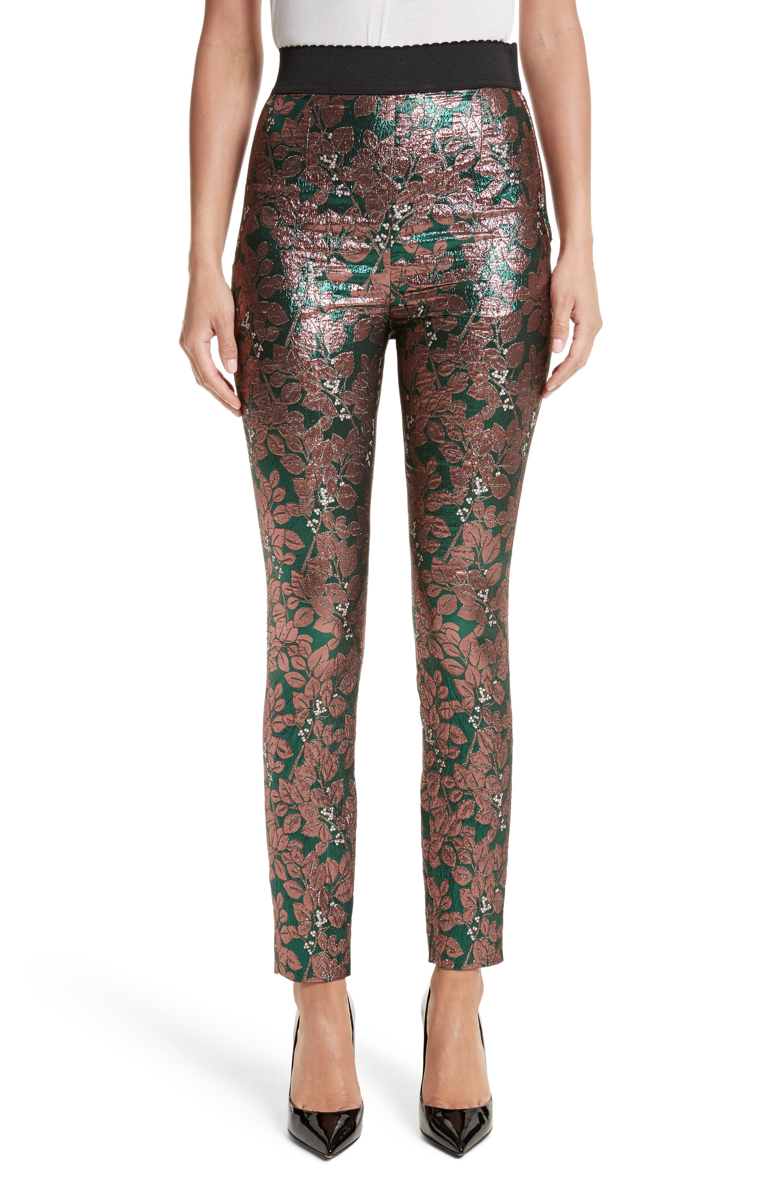 Dolce&Gabbana Metallic Jacquard Leggings