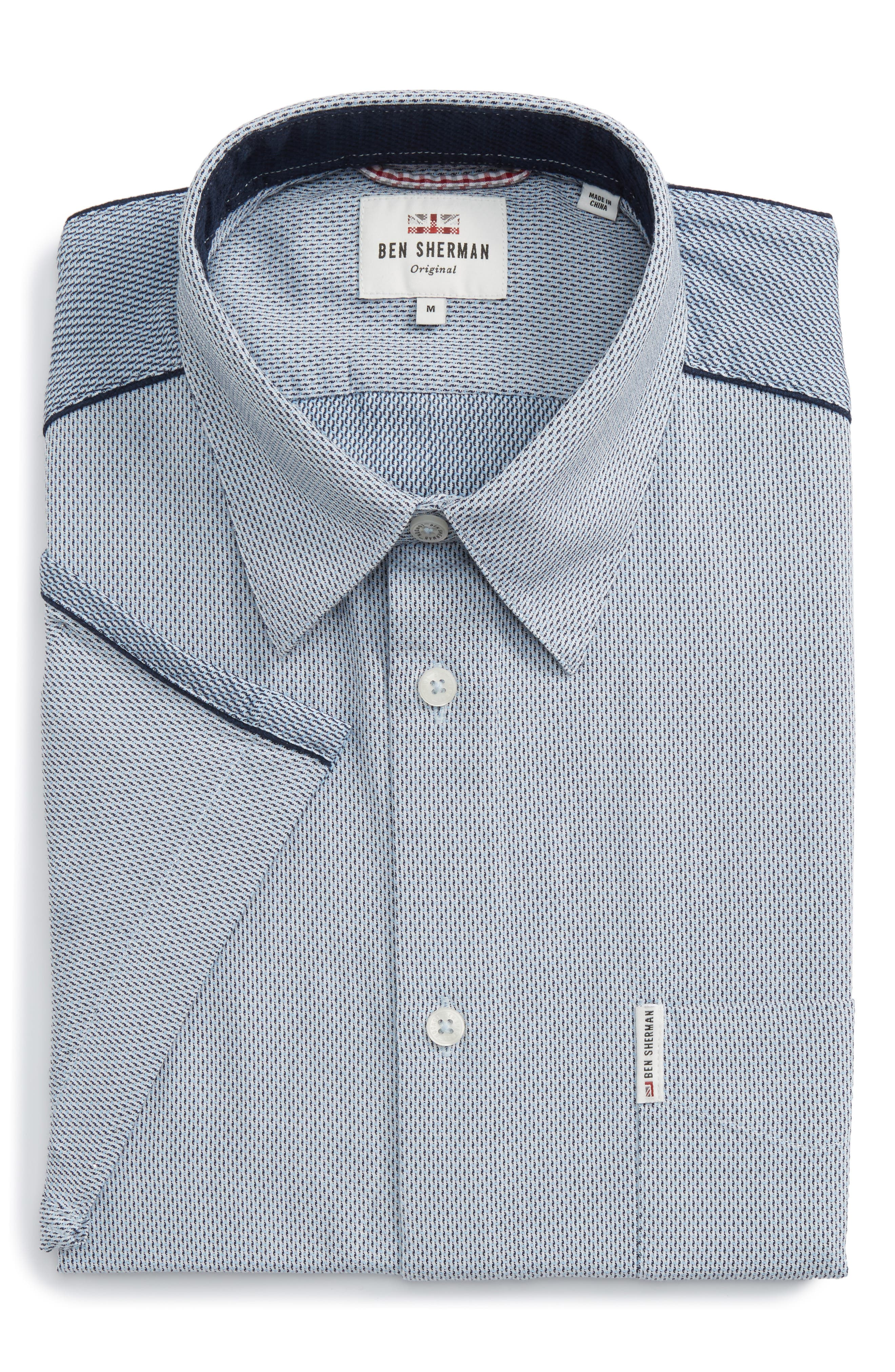 Ben Sherman Dobby Short Sleeve Shirt