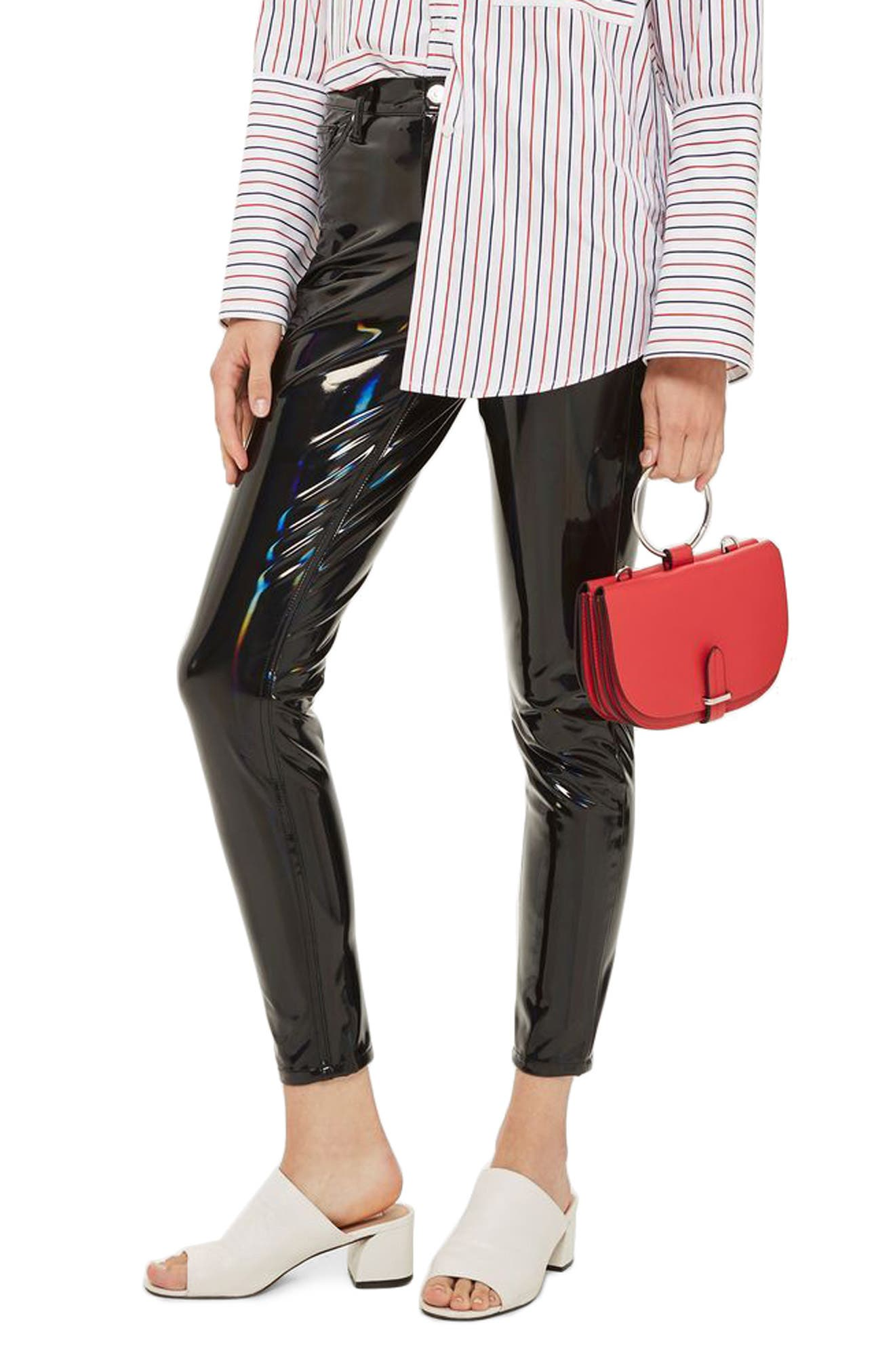 Topshop Jamie Holographic Skinny Jeans