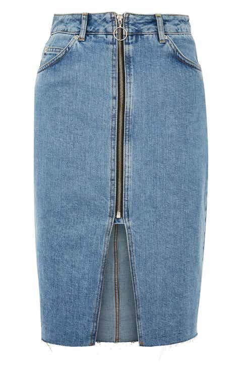 Knee-Length Denim Skirts for Women | Nordstrom