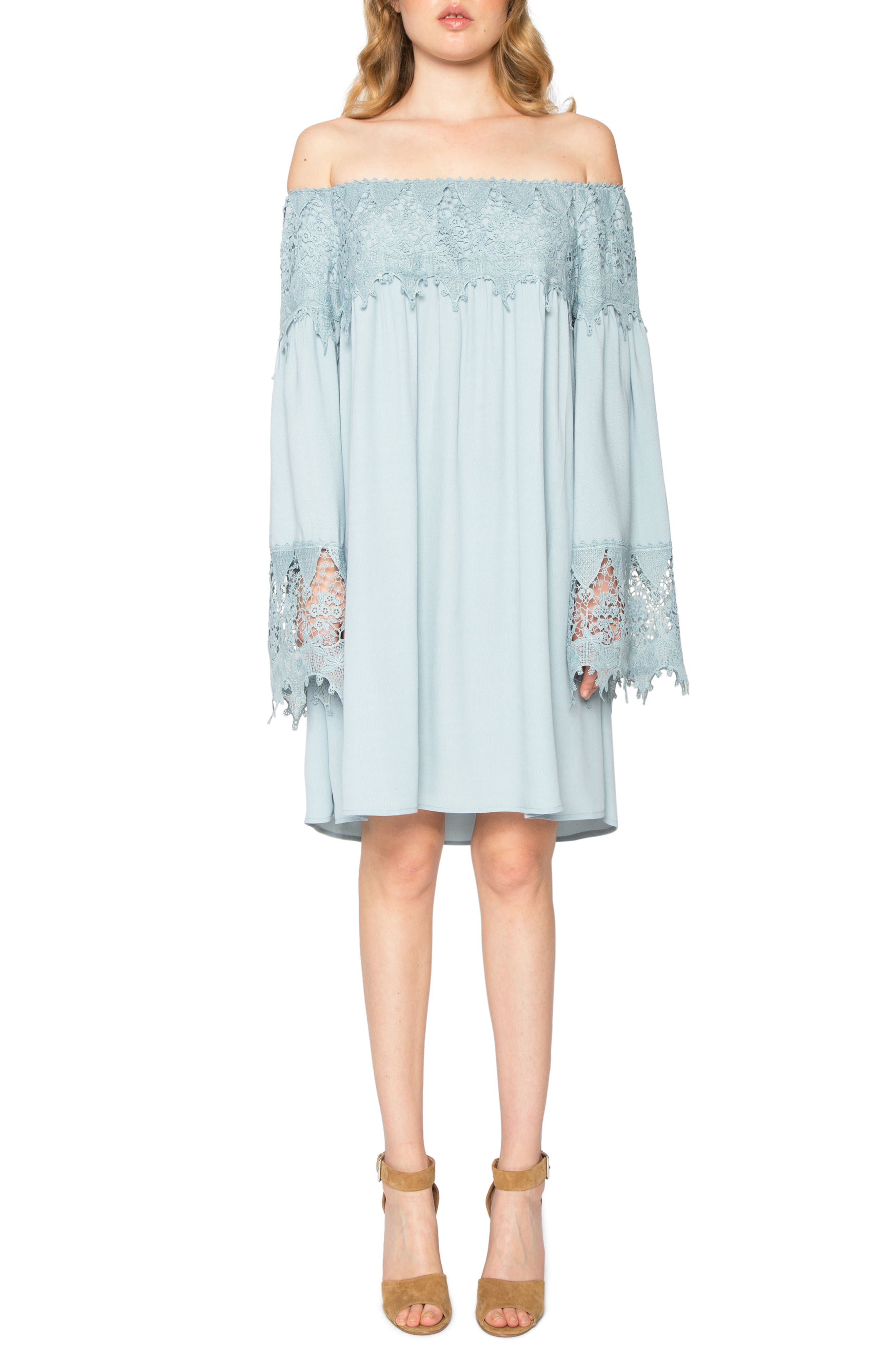 Willow & Clay Off the Shoulder Shift Dress
