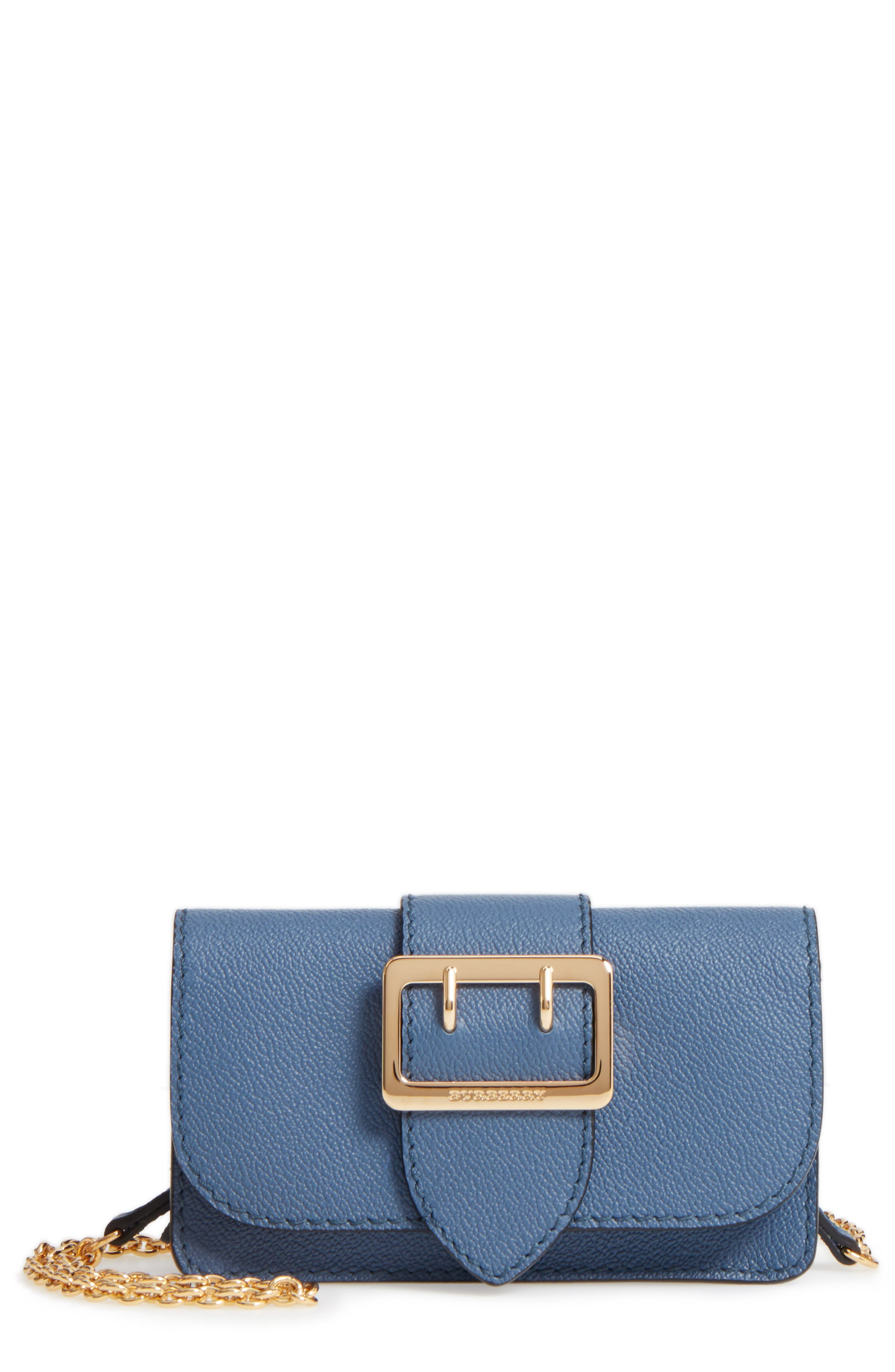 Burberry Mini Buckle Leather Bag