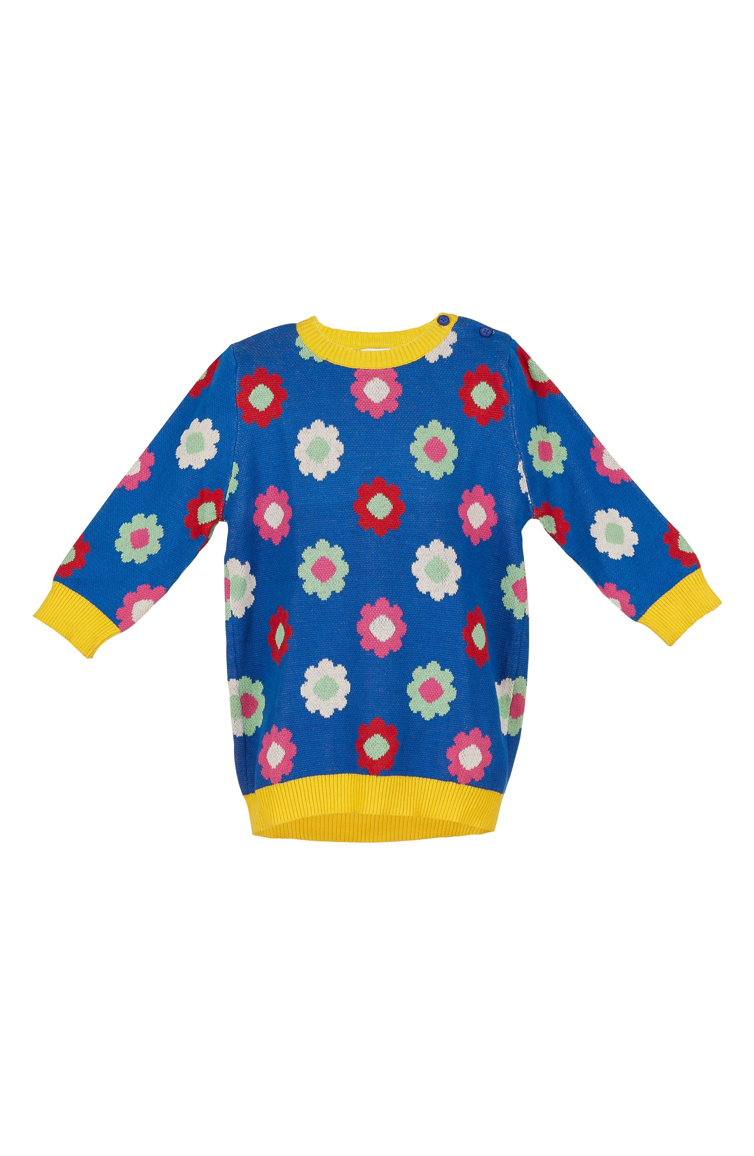 Margherita Daisy Double Knit Sweater Dress (Toddler Girls & Little Girls)