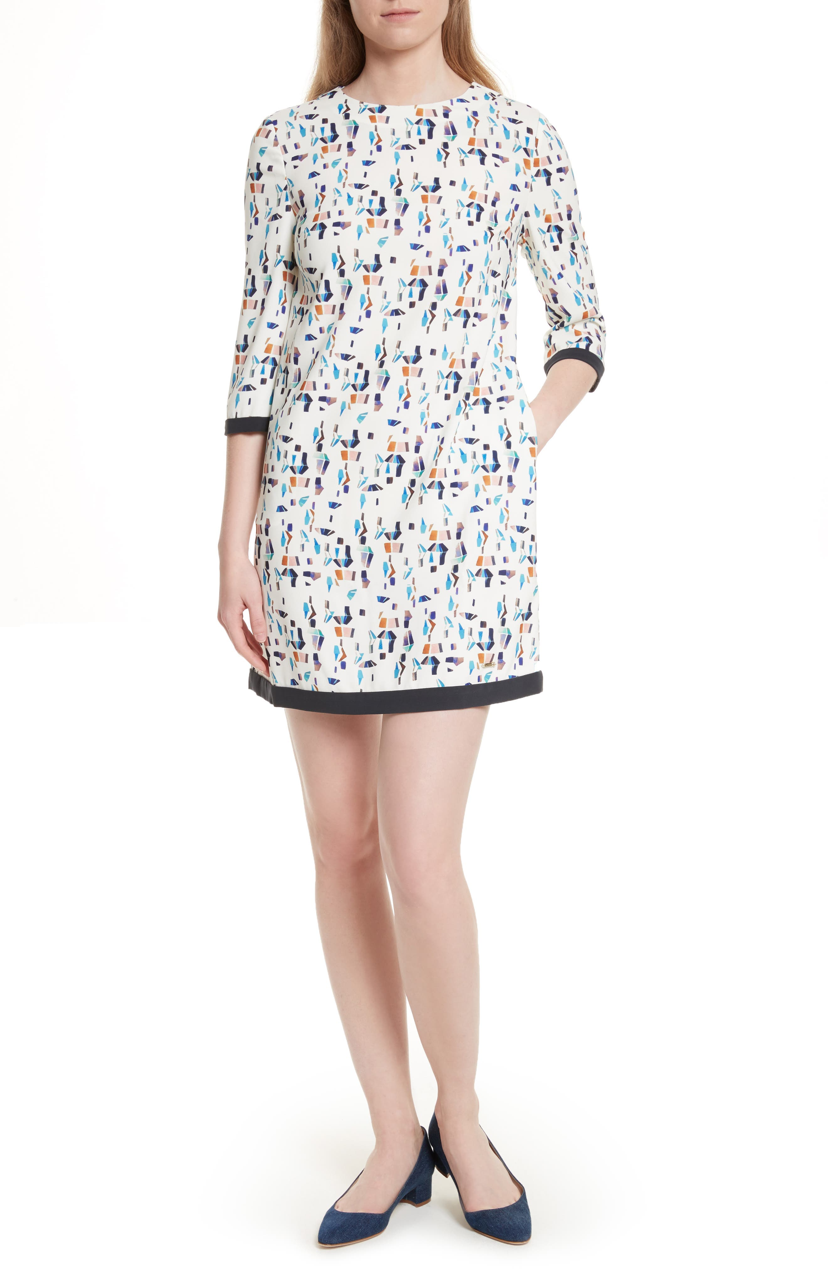 Ted Baker London Limina Print Shift Dress