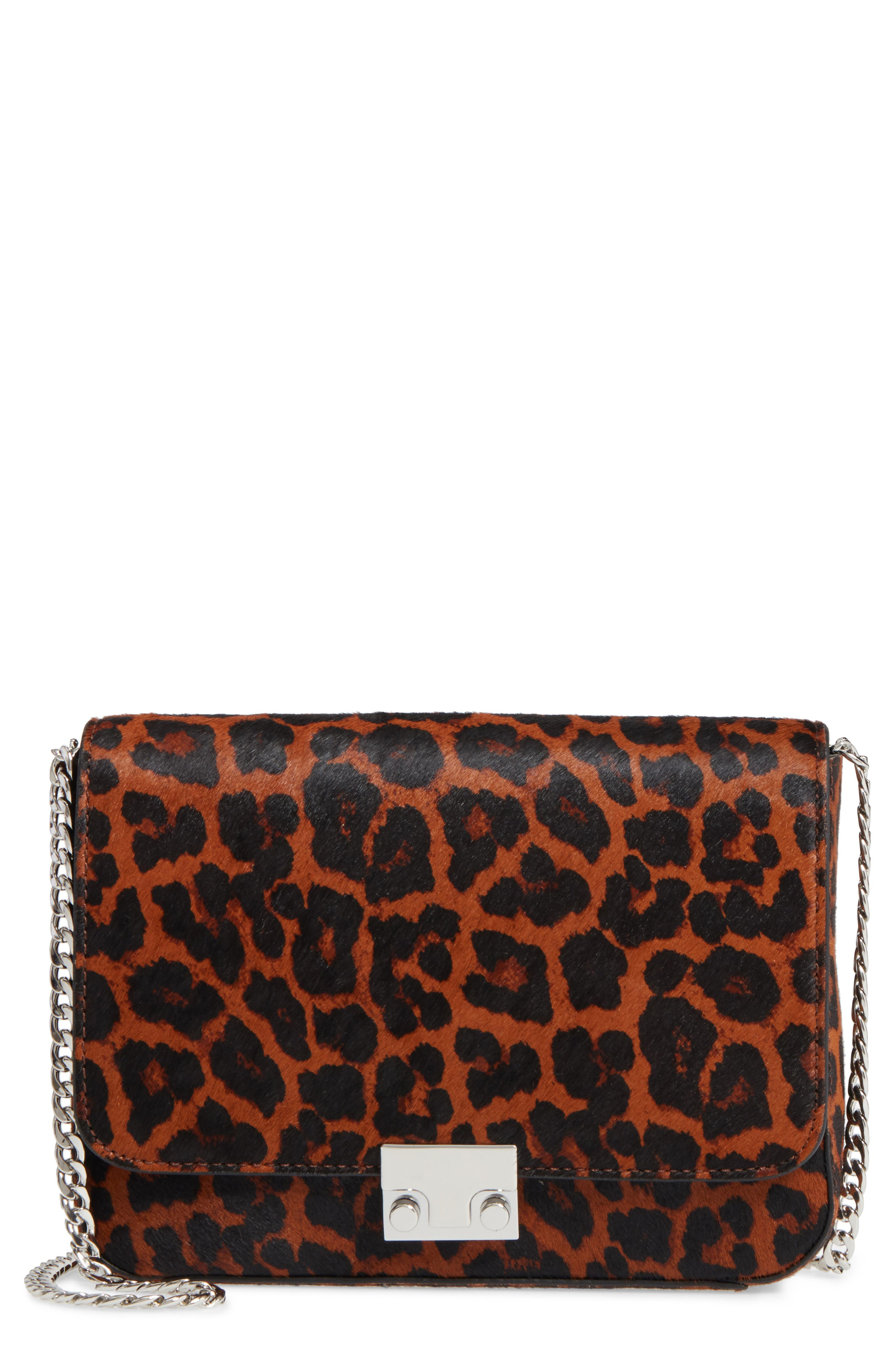 Loeffler Randall Lock Genuine Calf Hair Shoulder Bag