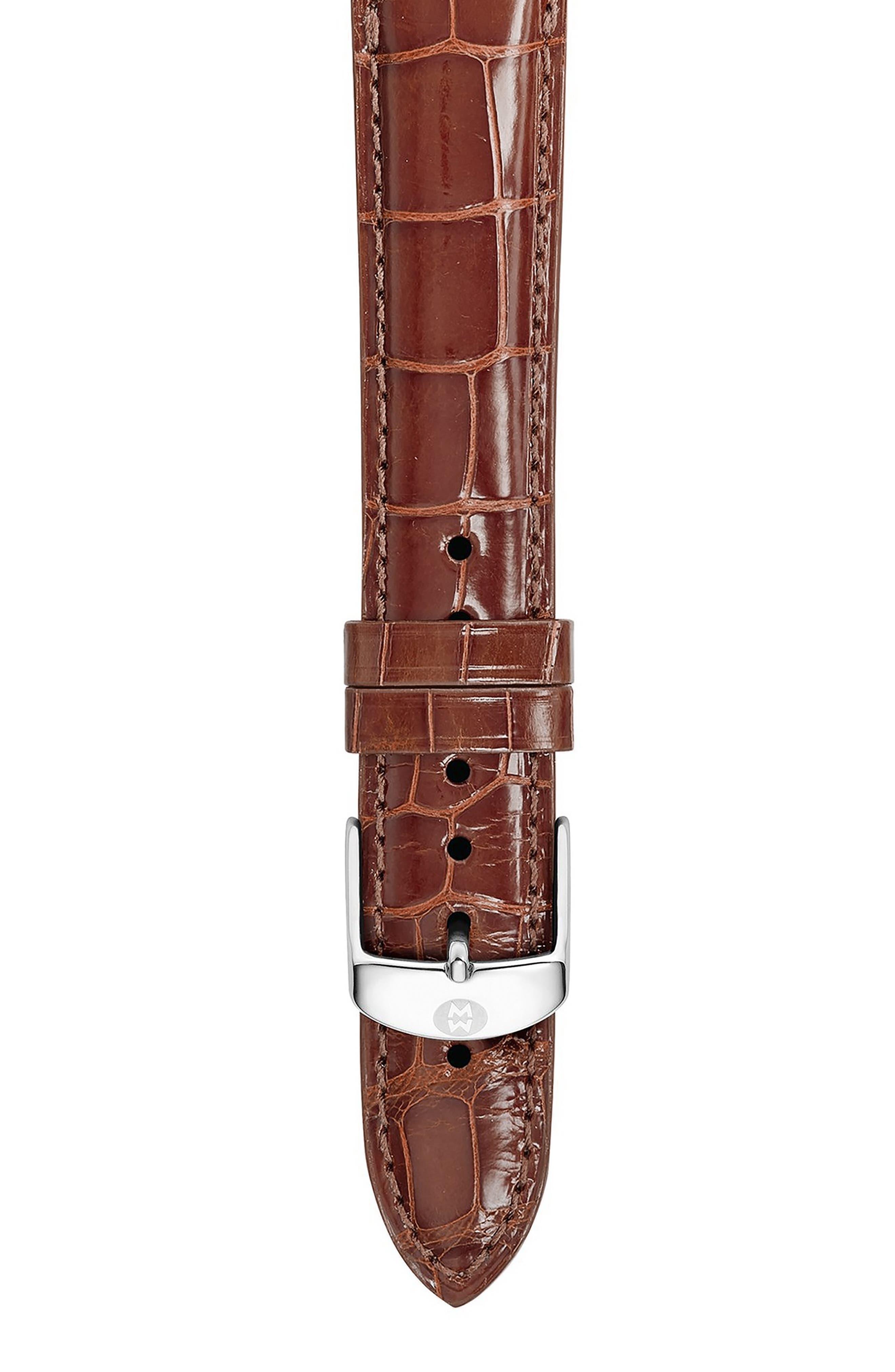MICHELE 18mm Genuine Alligator Watch Strap