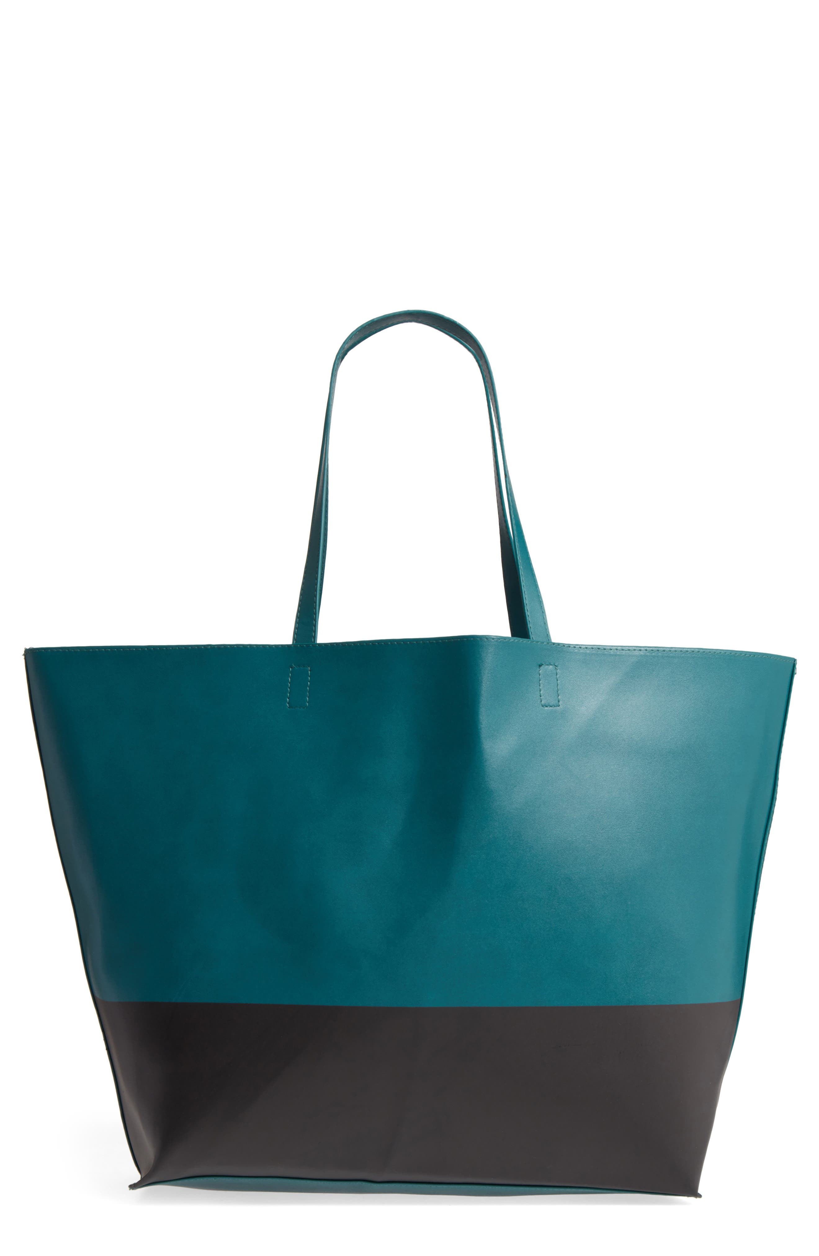 BP. Colorblock Faux Leather Tote