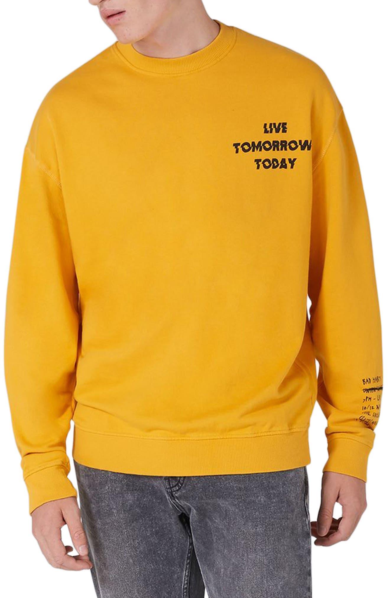 Topman Legacy Graphic Crewneck Sweatshirt
