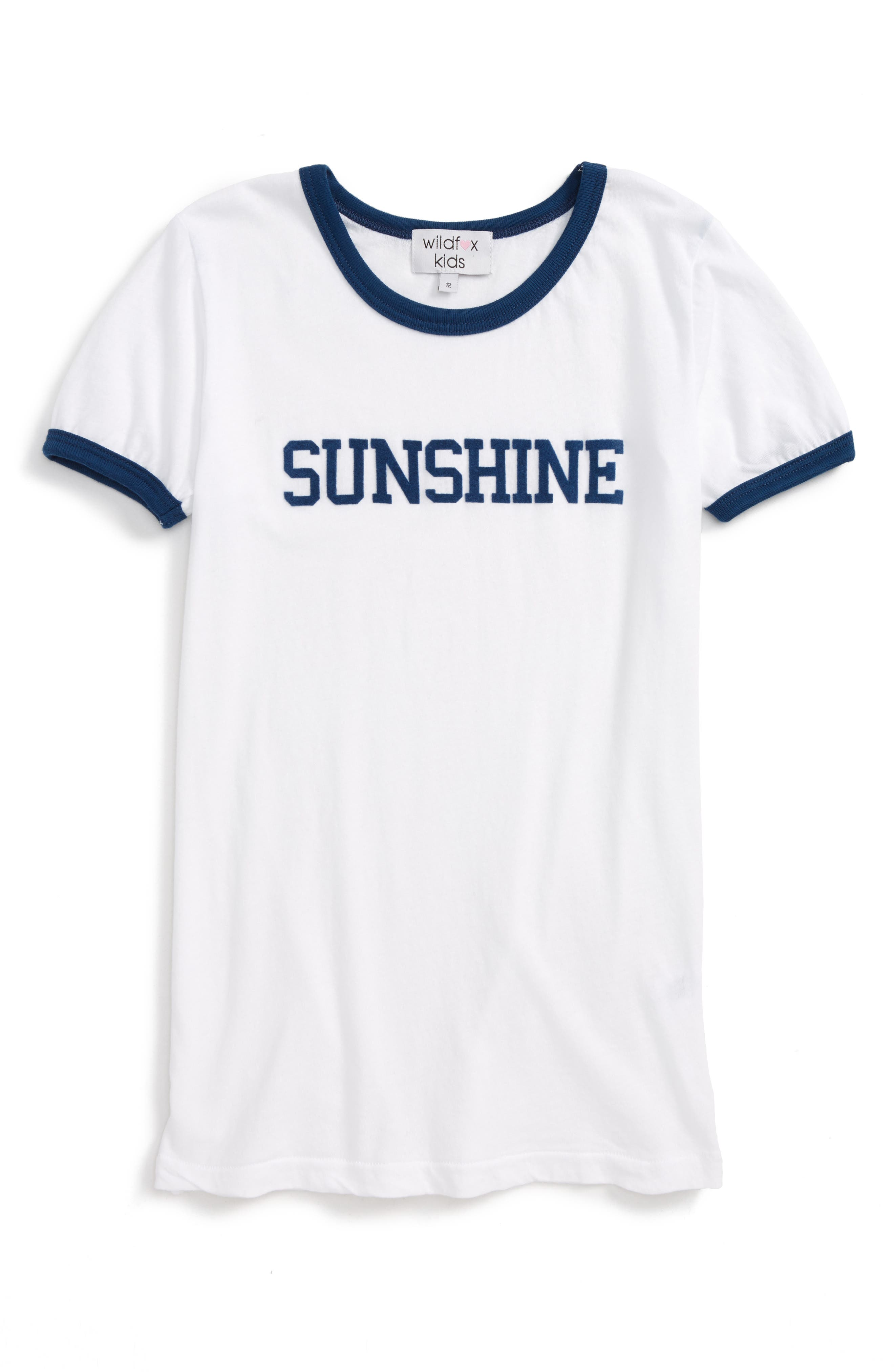 Wildfox Sunshine Ringer Tee (Big Girls)