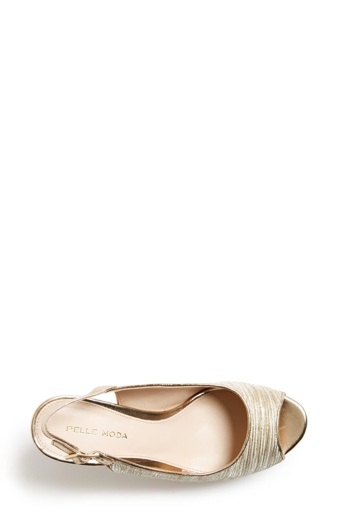 Alternate Image 3  - Pelle Moda 'Colby' Slingback Wedge Sandal (Women)