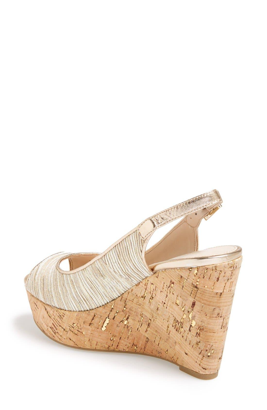 Alternate Image 2  - Pelle Moda 'Colby' Slingback Wedge Sandal (Women)
