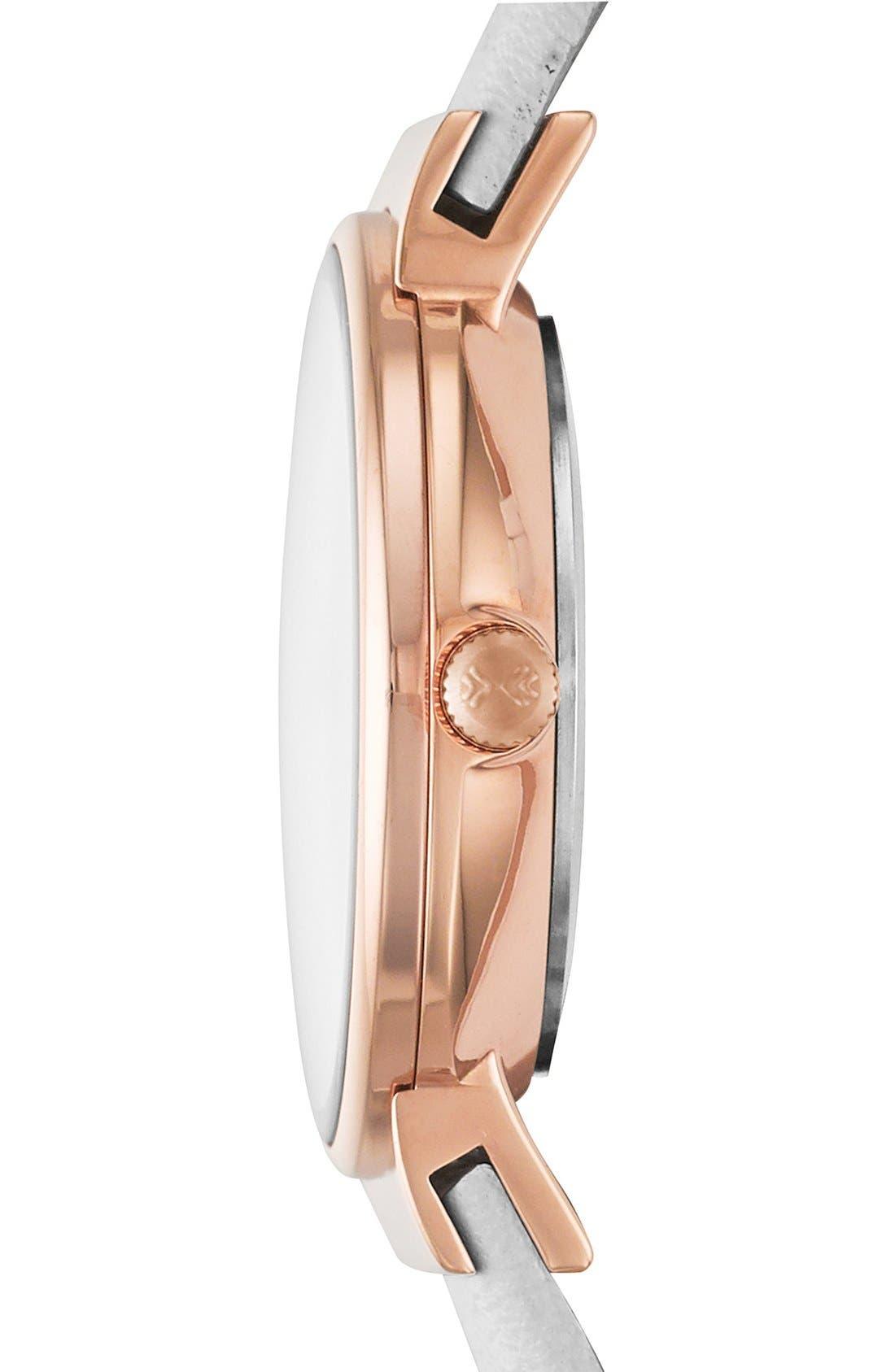 Alternate Image 2  - Skagen 'Ancher' Leather Strap Watch, 26mm