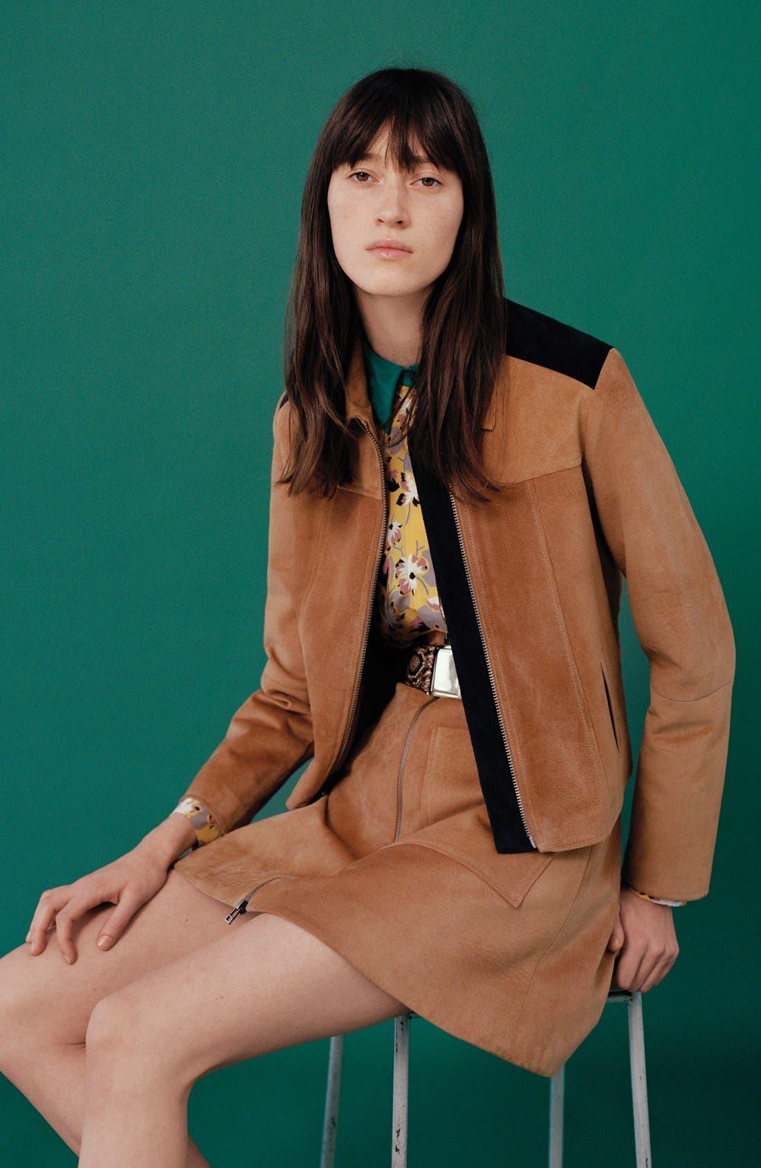 Alternate Image 7  - Topshop Front Zip Suede Skirt (Brit Pop-In) (Nordstrom Exclusive)