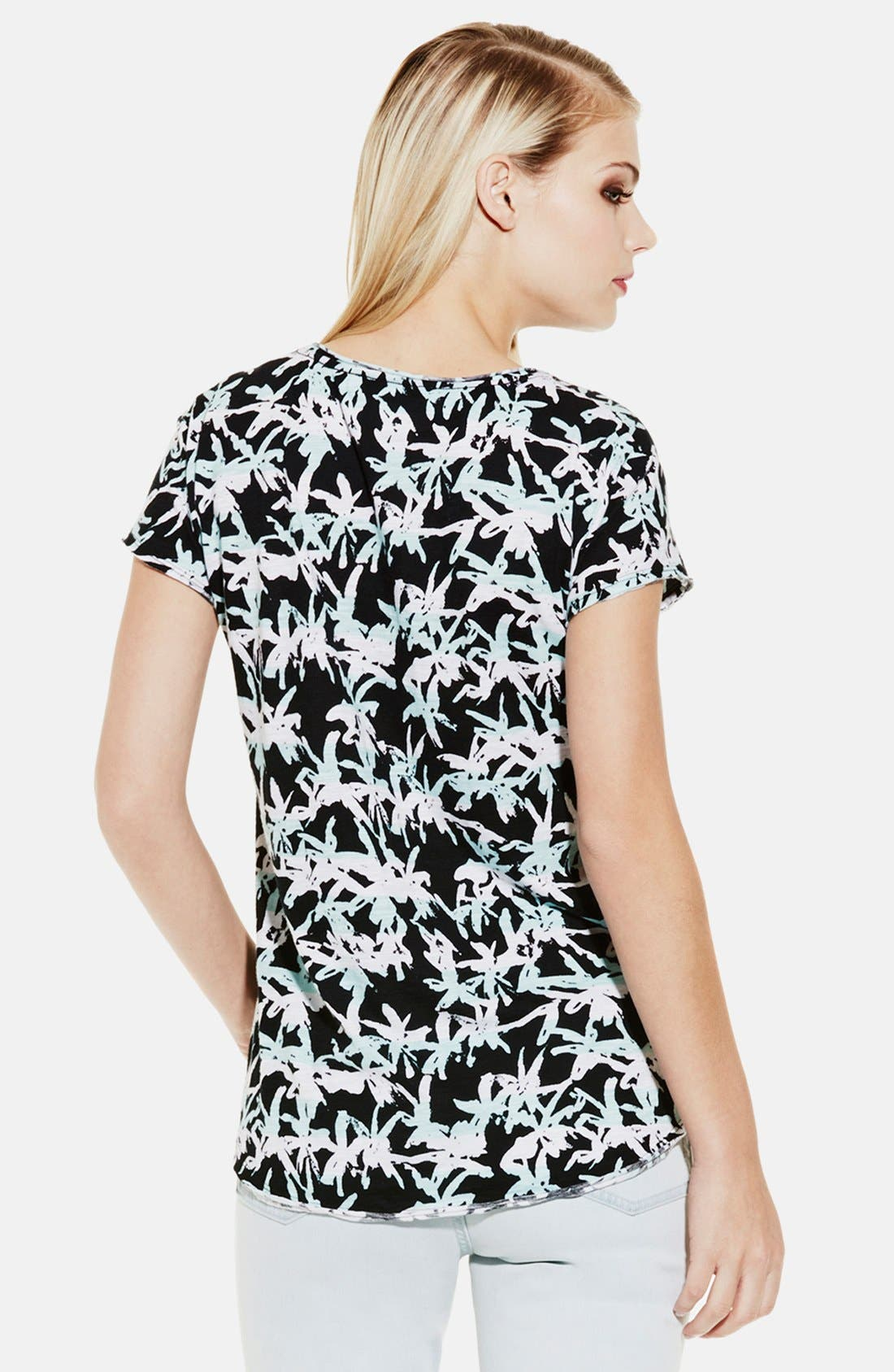 Alternate Image 2  - Two by Vince Camuto 'Tropic Effect' Split Neck Tee