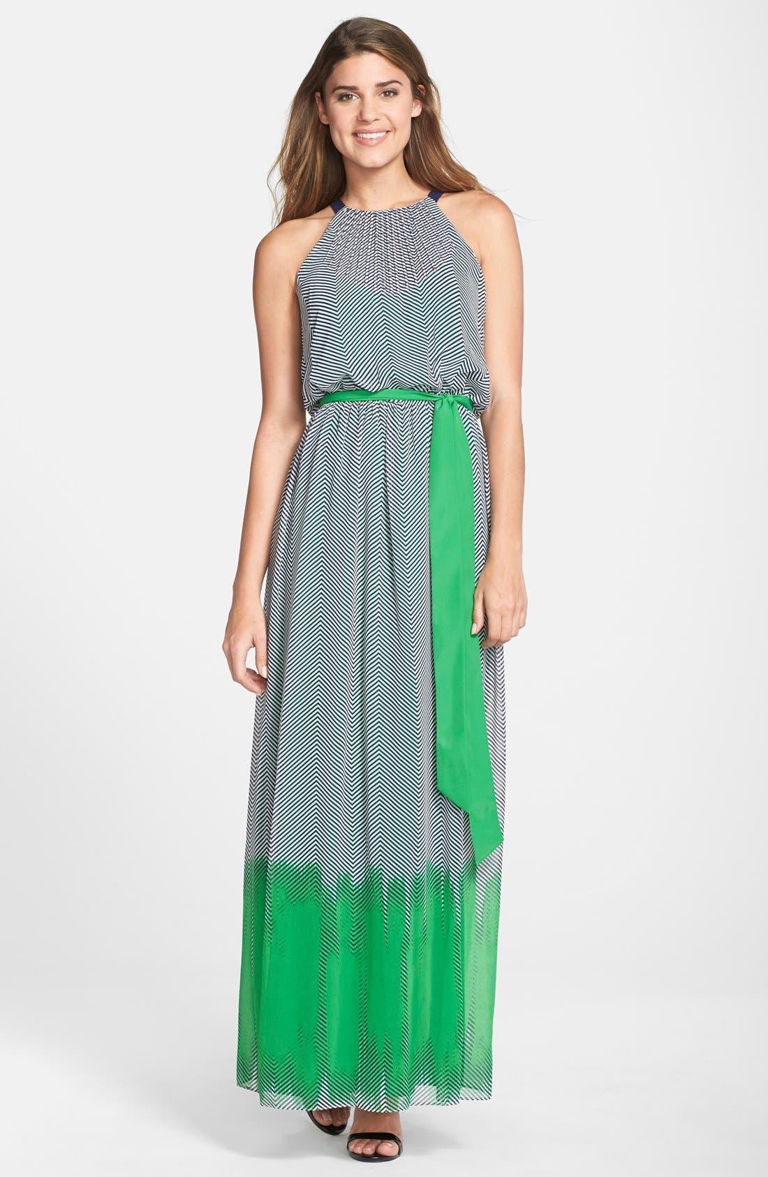 Alternate Image 1 Selected - Vince Camuto Print Crepe Maxi Dress