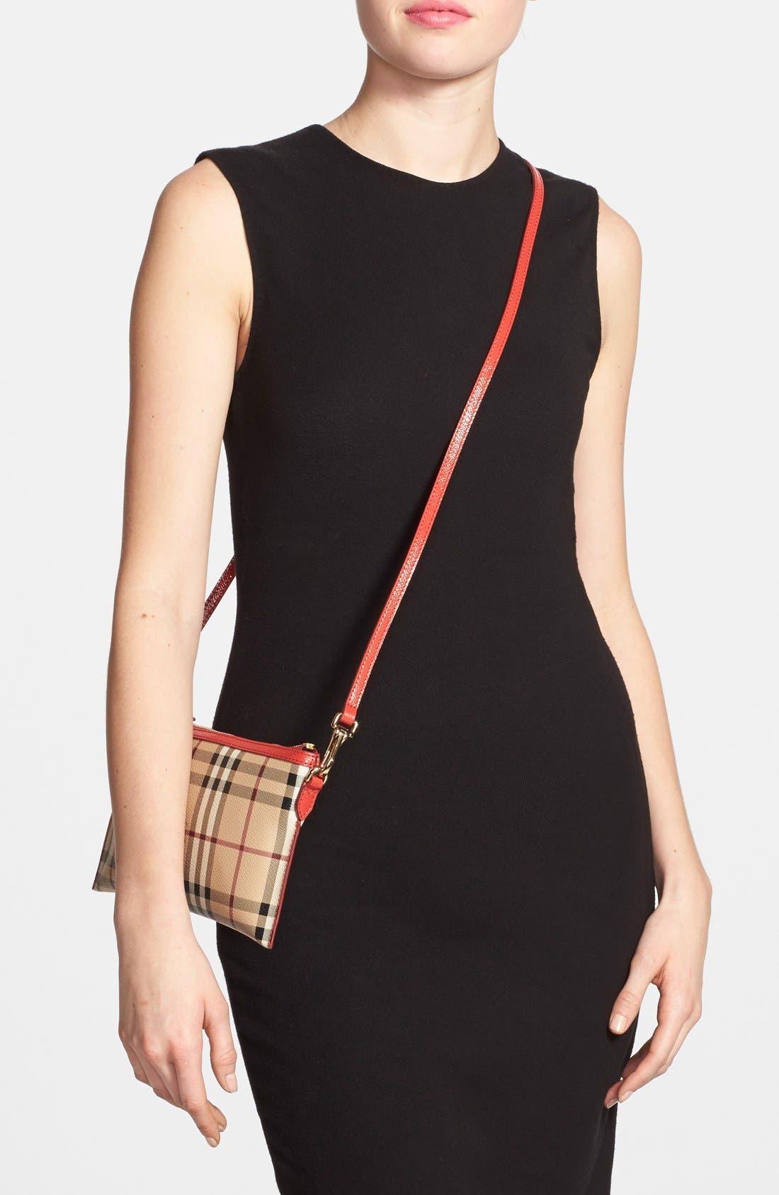 Alternate Image 2  - Burberry 'Peyton - Haymarket Check' Crossbody Bag