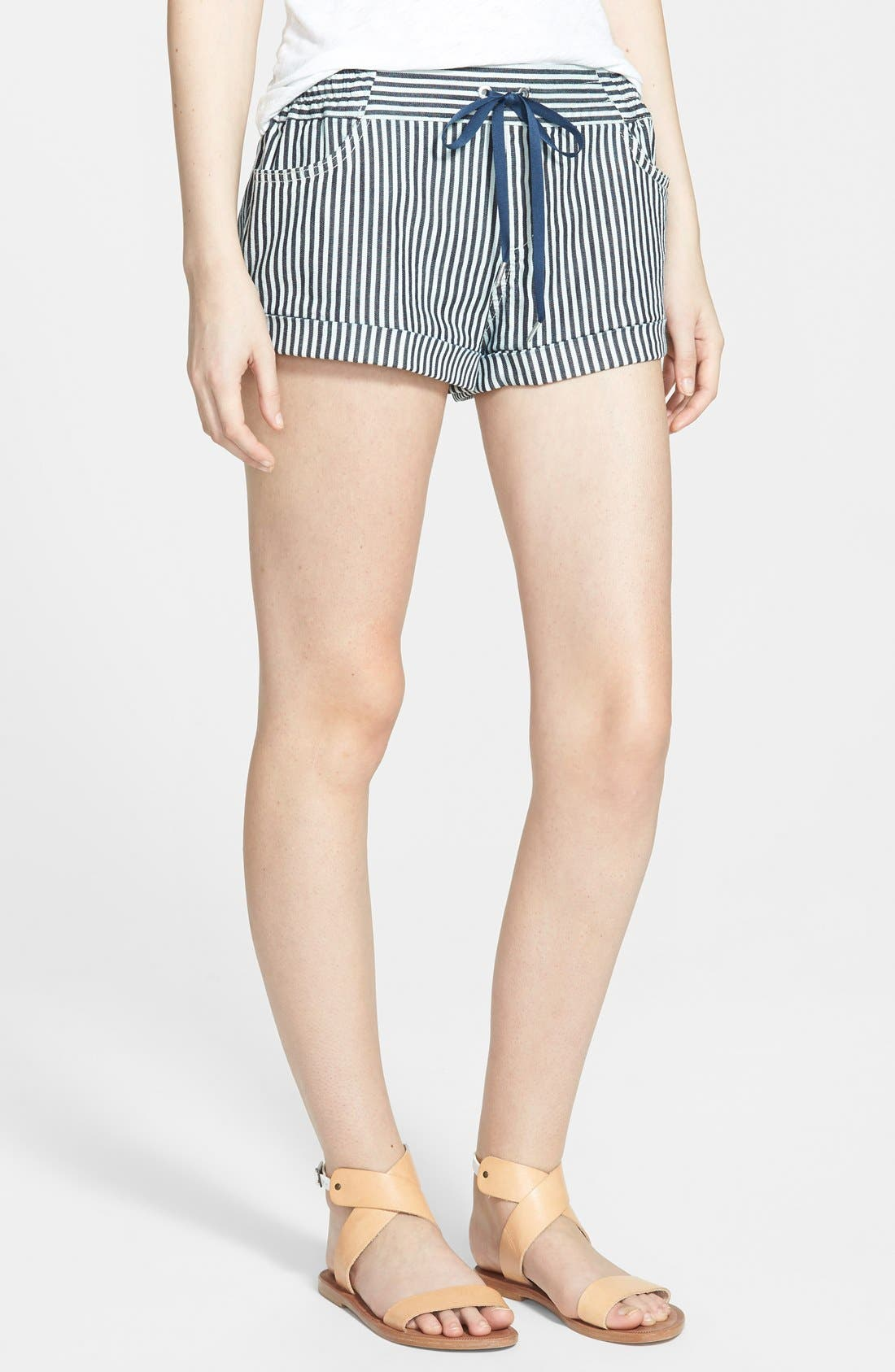 Alternate Image 1 Selected - Joe's 'Lennox' Drawstring Stripe Shorts (Vivie)