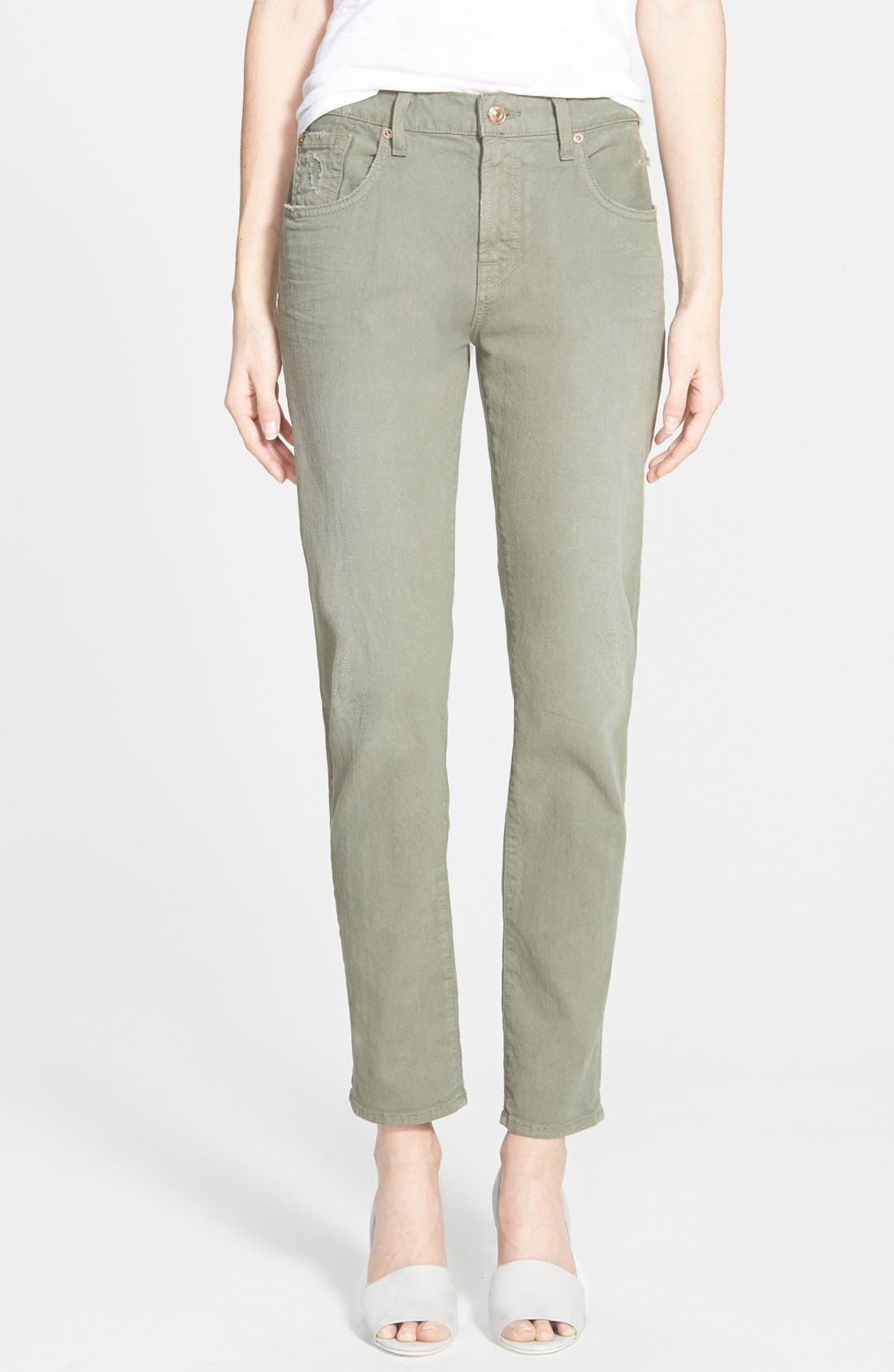 Main Image - 7 For All Mankind® Relaxed Skinny Jeans (Fatigue)