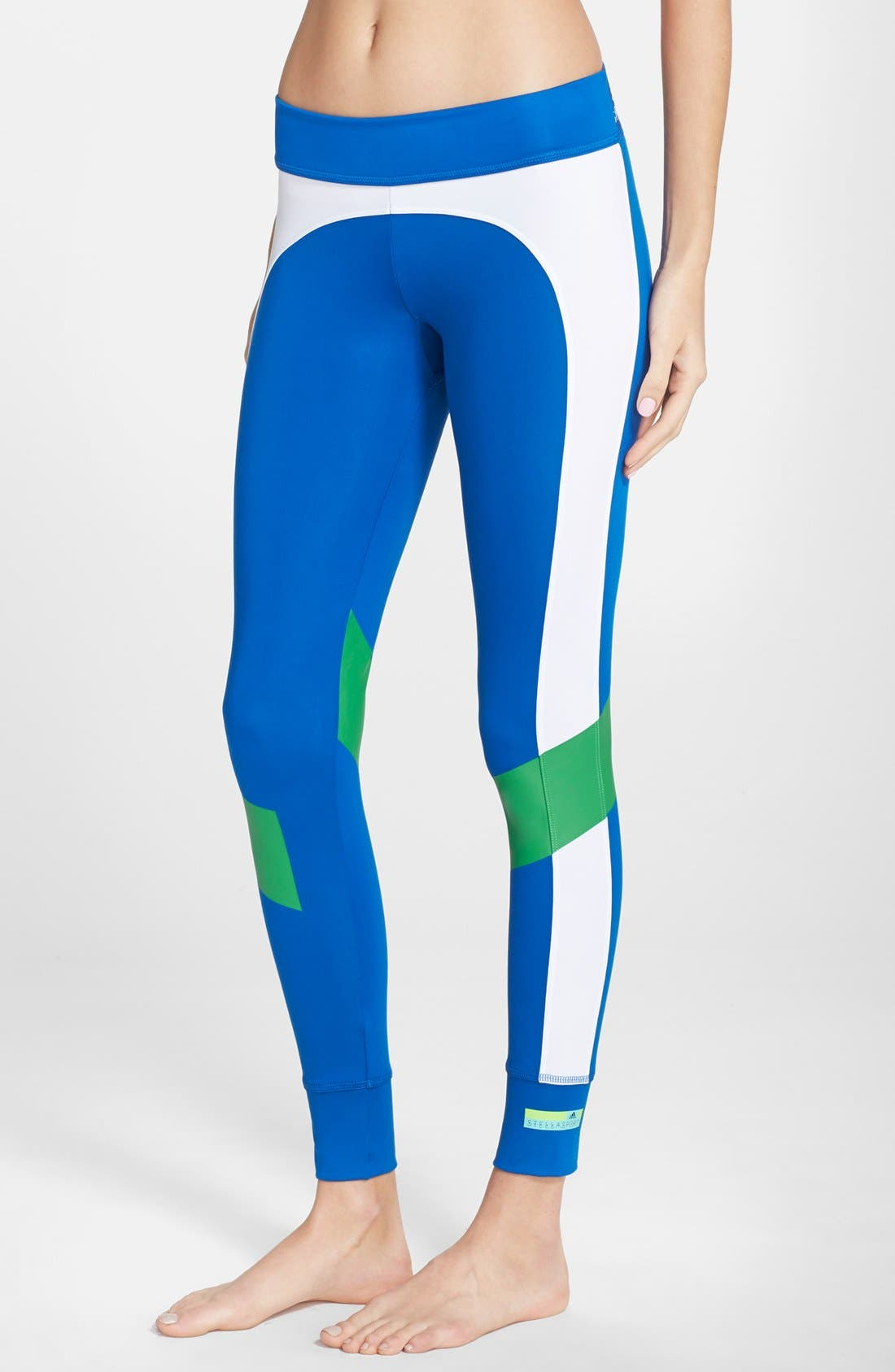 Alternate Image 1 Selected - adidas by Stella McCartney Colorblock Training Tights