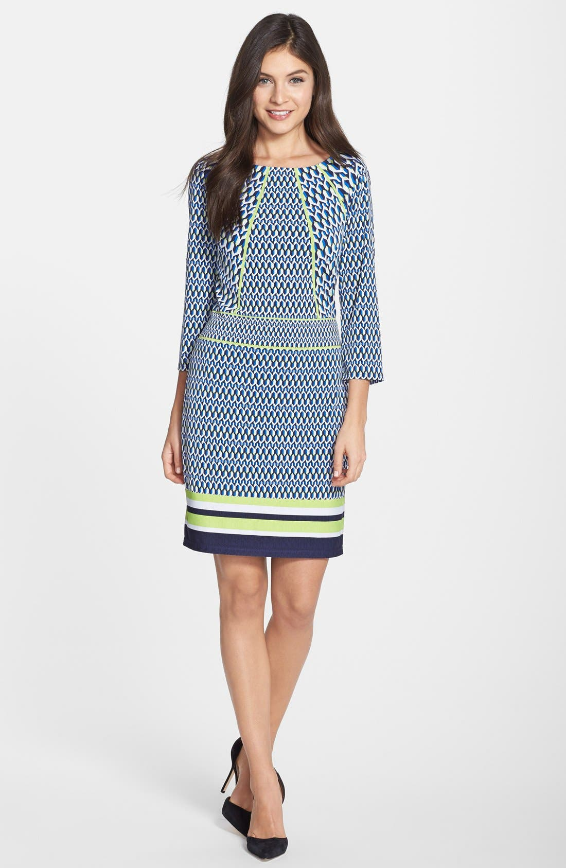 Alternate Image 3  - Laundry by Shelli Segal Print Jersey Sheath Dress (Regular & Petite)