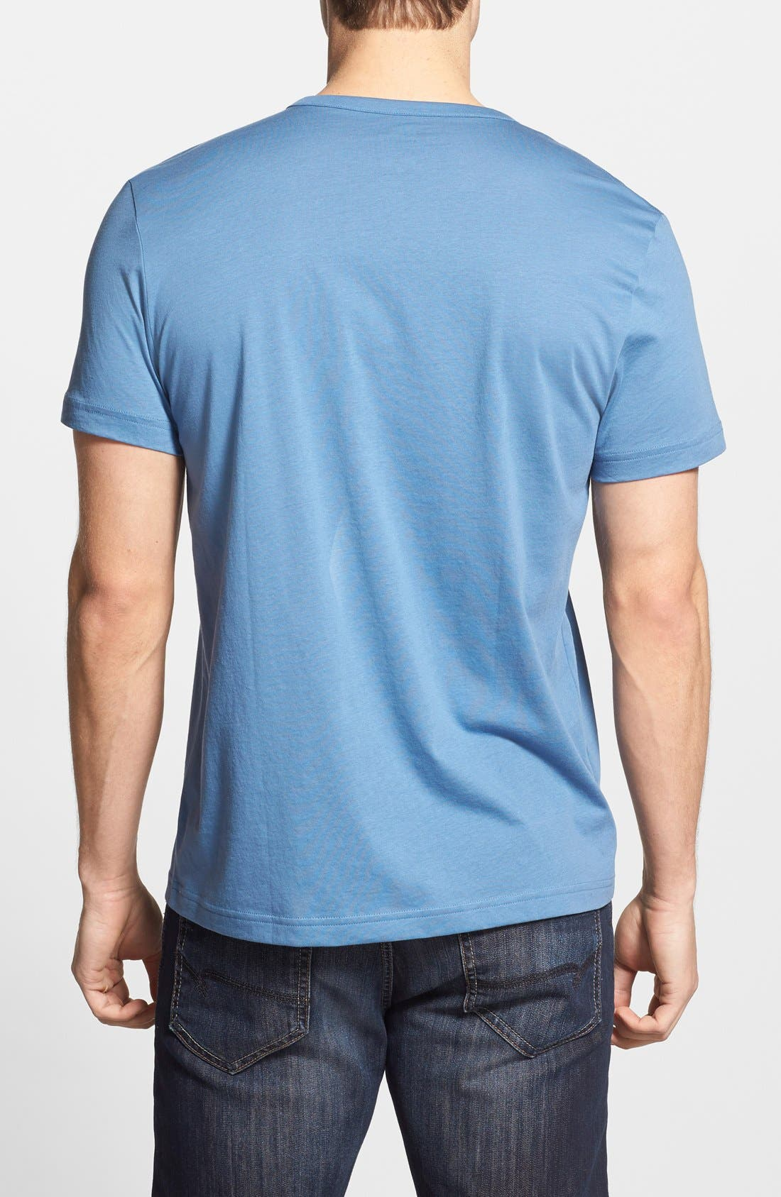 Alternate Image 2  - Lacoste Short Sleeve Henley T-Shirt