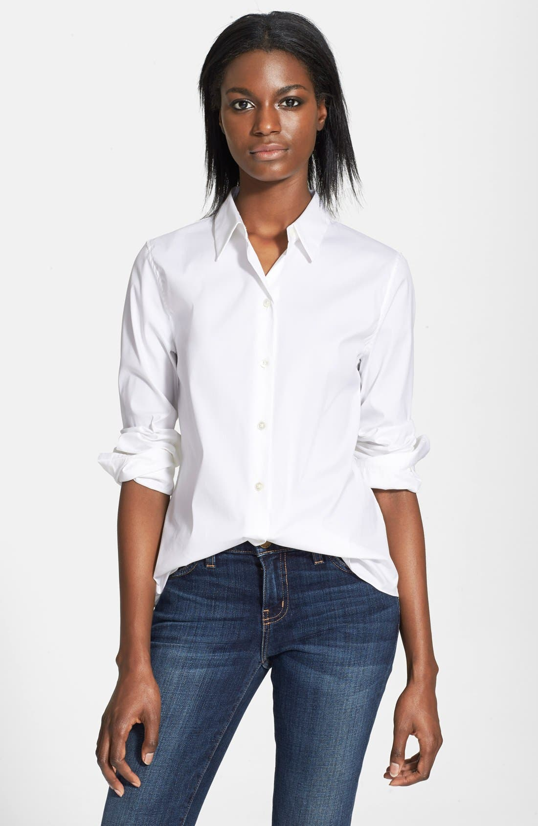 Main Image - Theory 'Tenia' Cotton Blend Blouse