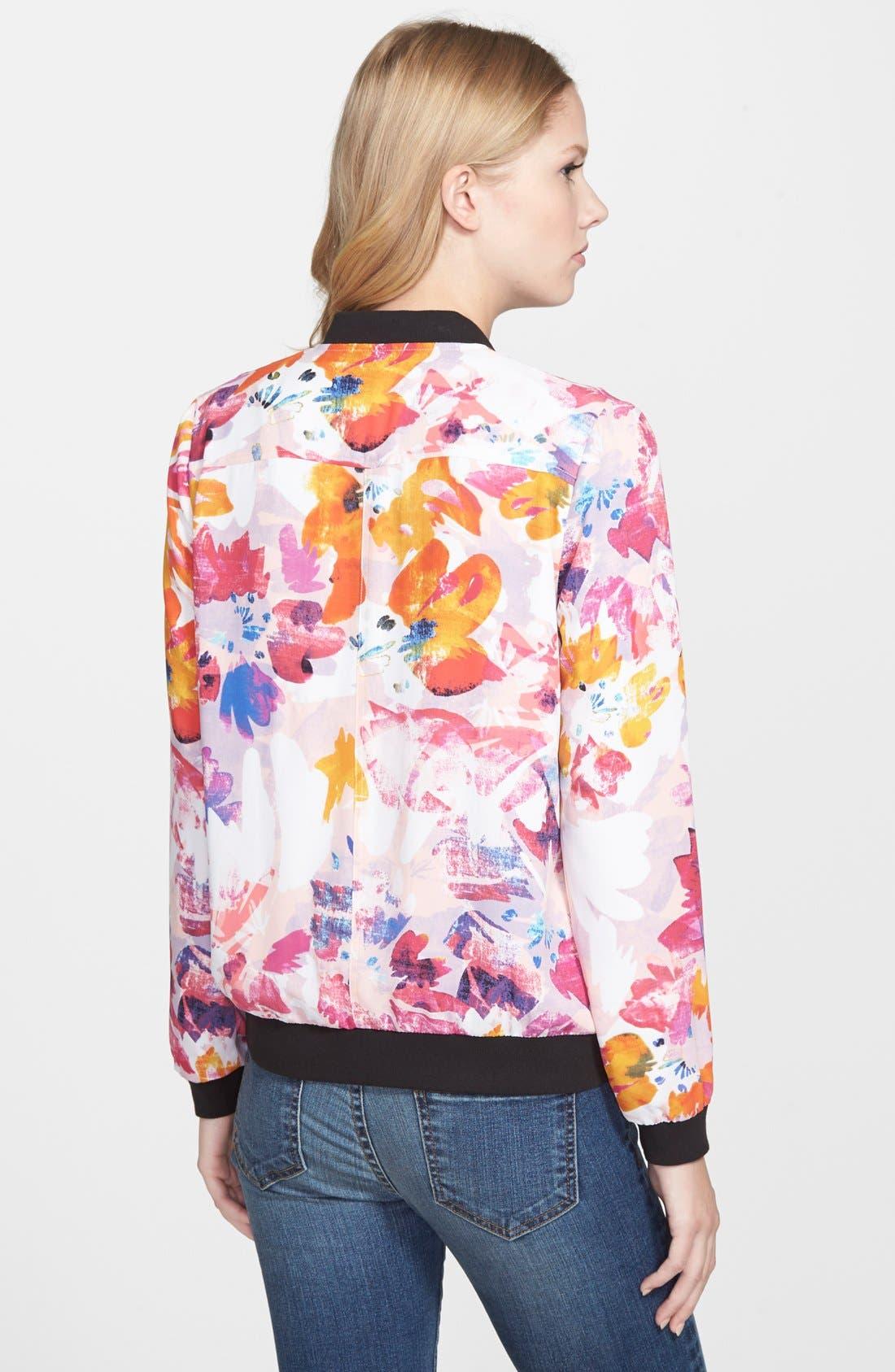Alternate Image 2  - NYDJ Floral Print Bomber Jacket