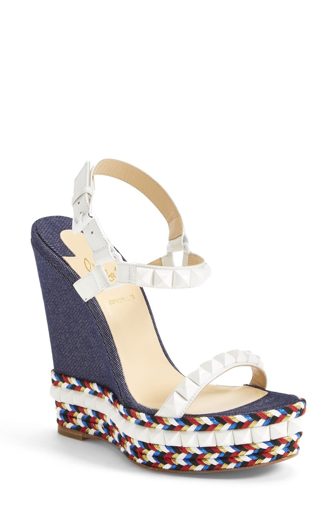Alternate Image 1 Selected - Christian Louboutin 'Cataclou' Wedge Sandal