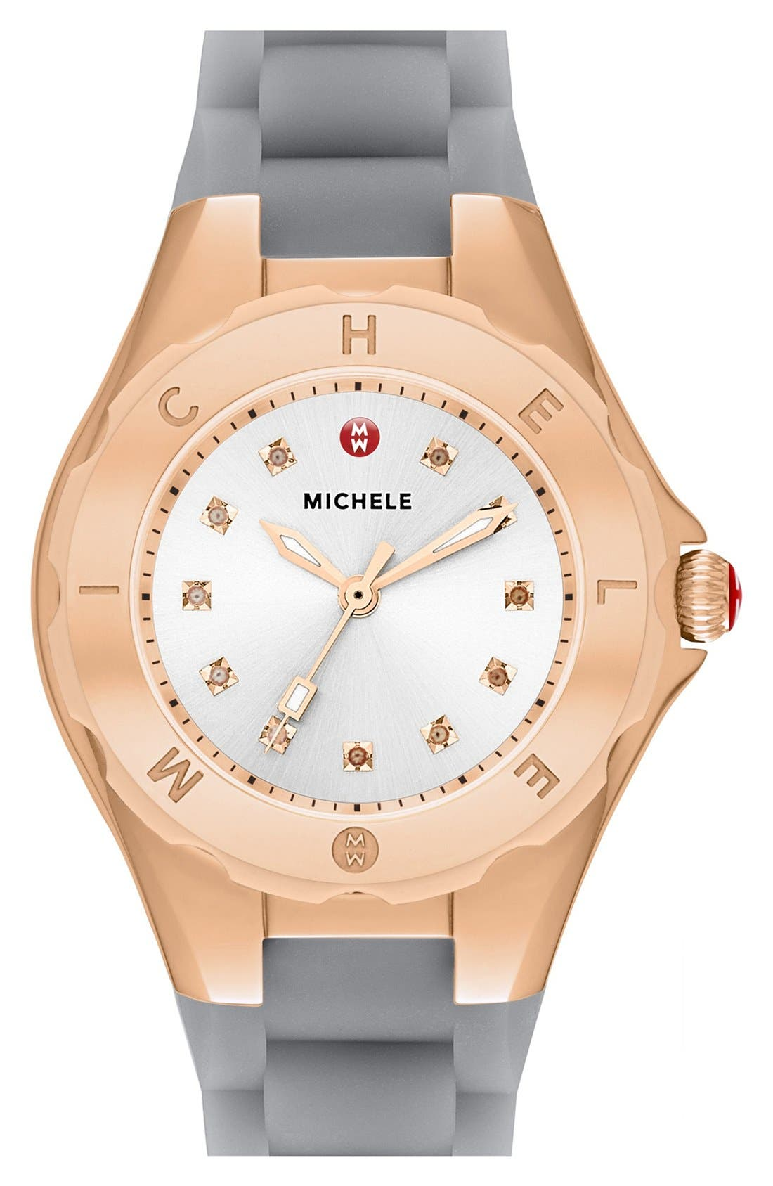 Alternate Image 1 Selected - MICHELE 'Tahitian Jelly Bean' Rose Gold Plated Watch, 40mm
