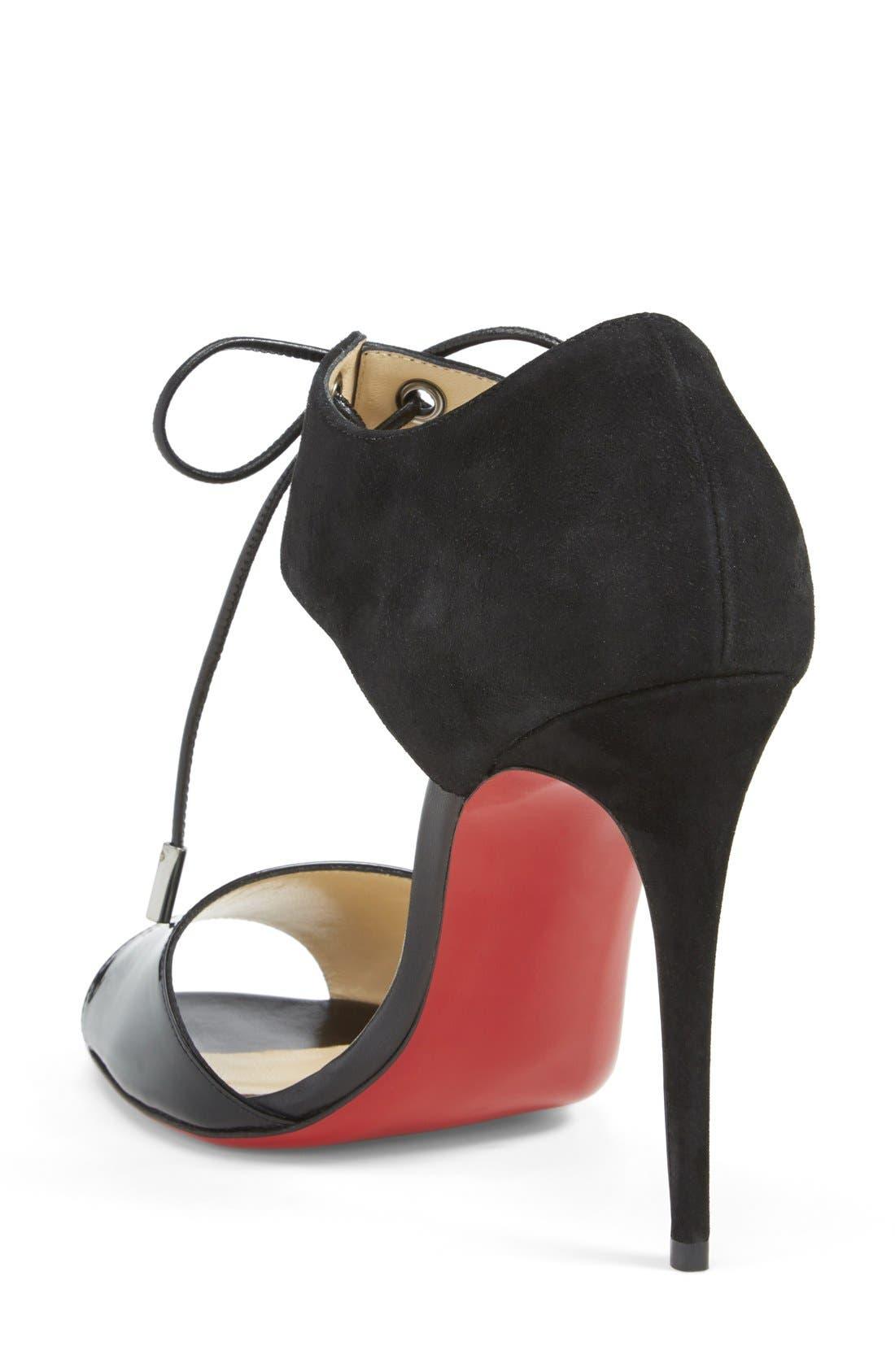 Alternate Image 2  - Christian Louboutin Tie-Up Leather Sandal