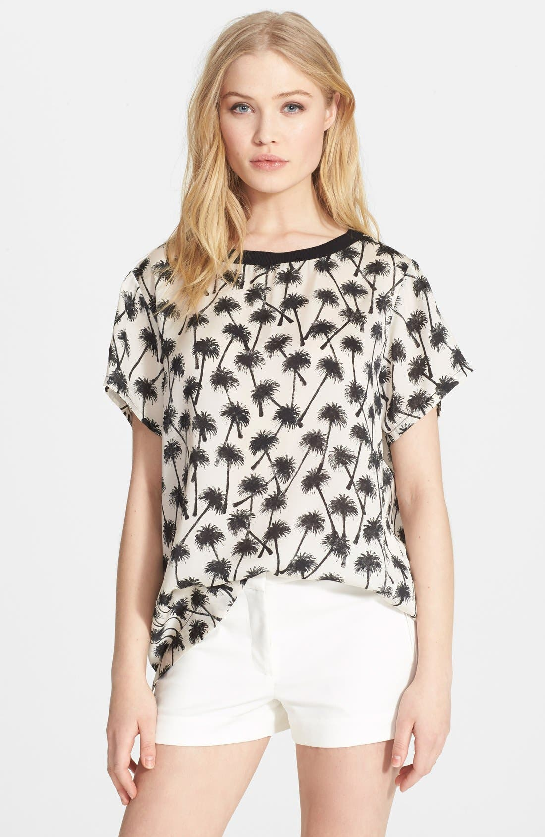 Alternate Image 1 Selected - L'AGENCE Palm Print Shirt