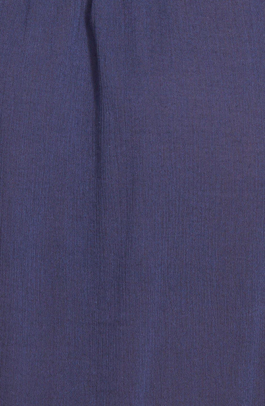 Alternate Image 4  - Caslon® Embroidered Yoke Sleeveless Shift Dress (Plus Size)