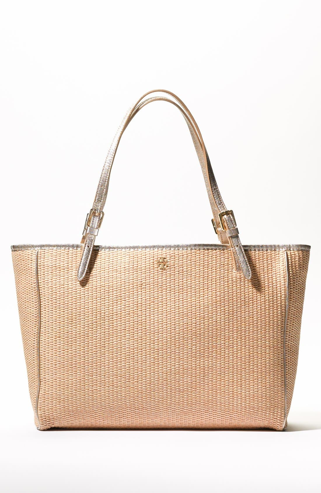 Alternate Image 8  - Tory Burch 'York' Straw Buckle Tote