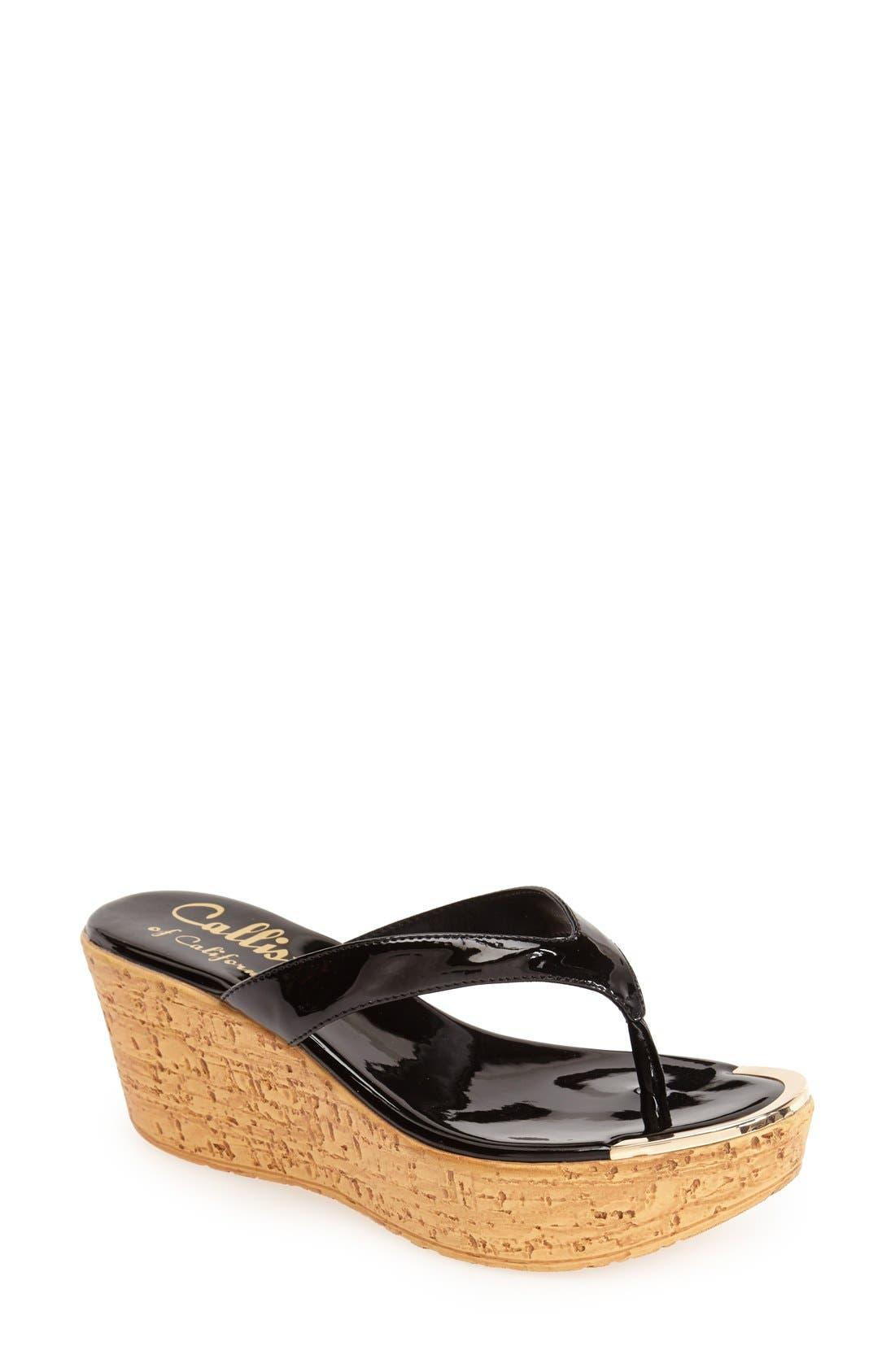 Alternate Image 1 Selected - Callisto 'Jaynie' Platform Thong Sandal (Women)